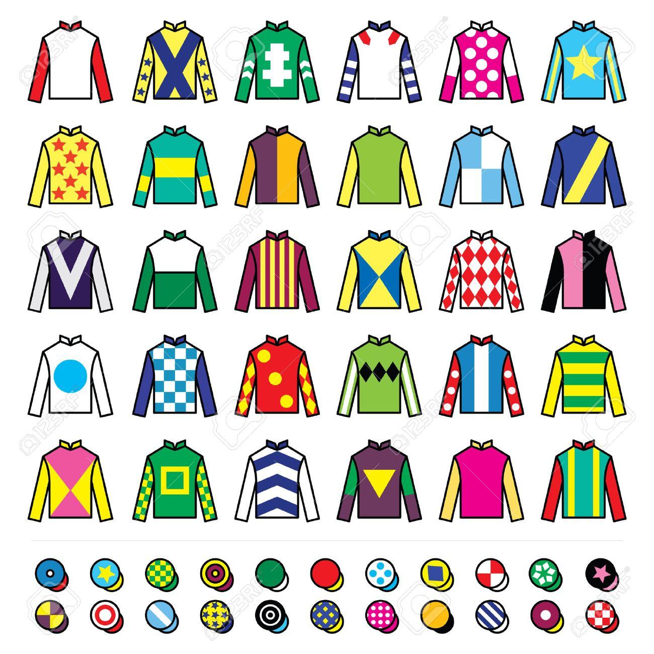 Soies Icons Jockey Uniforme Et ChapeauxÀ Set VestesDes Cheval QxeWCBErdo