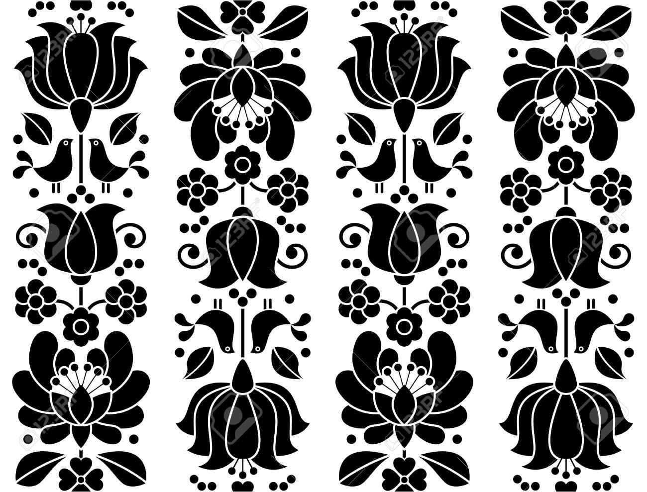 Patrón Floral Transparente - Bordados Kalocsai - Diseño Popular ...