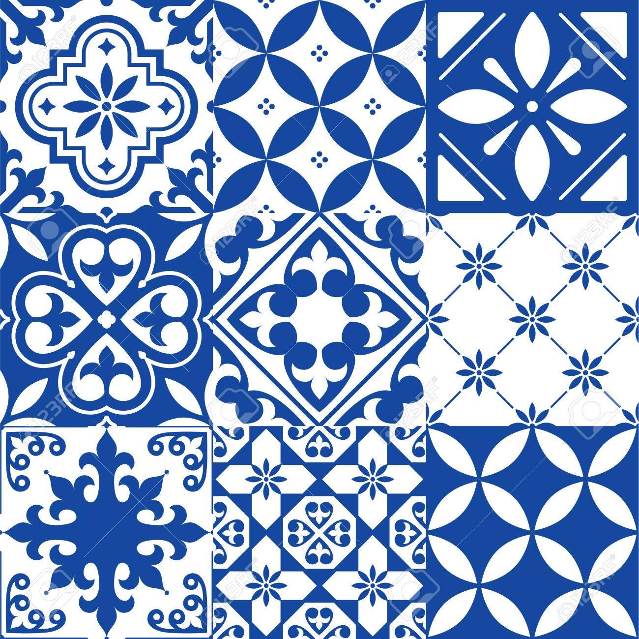 Carrelage Espagnol Design Carrelage Marocain Modèle Bleu Marine - Carrelage bleu