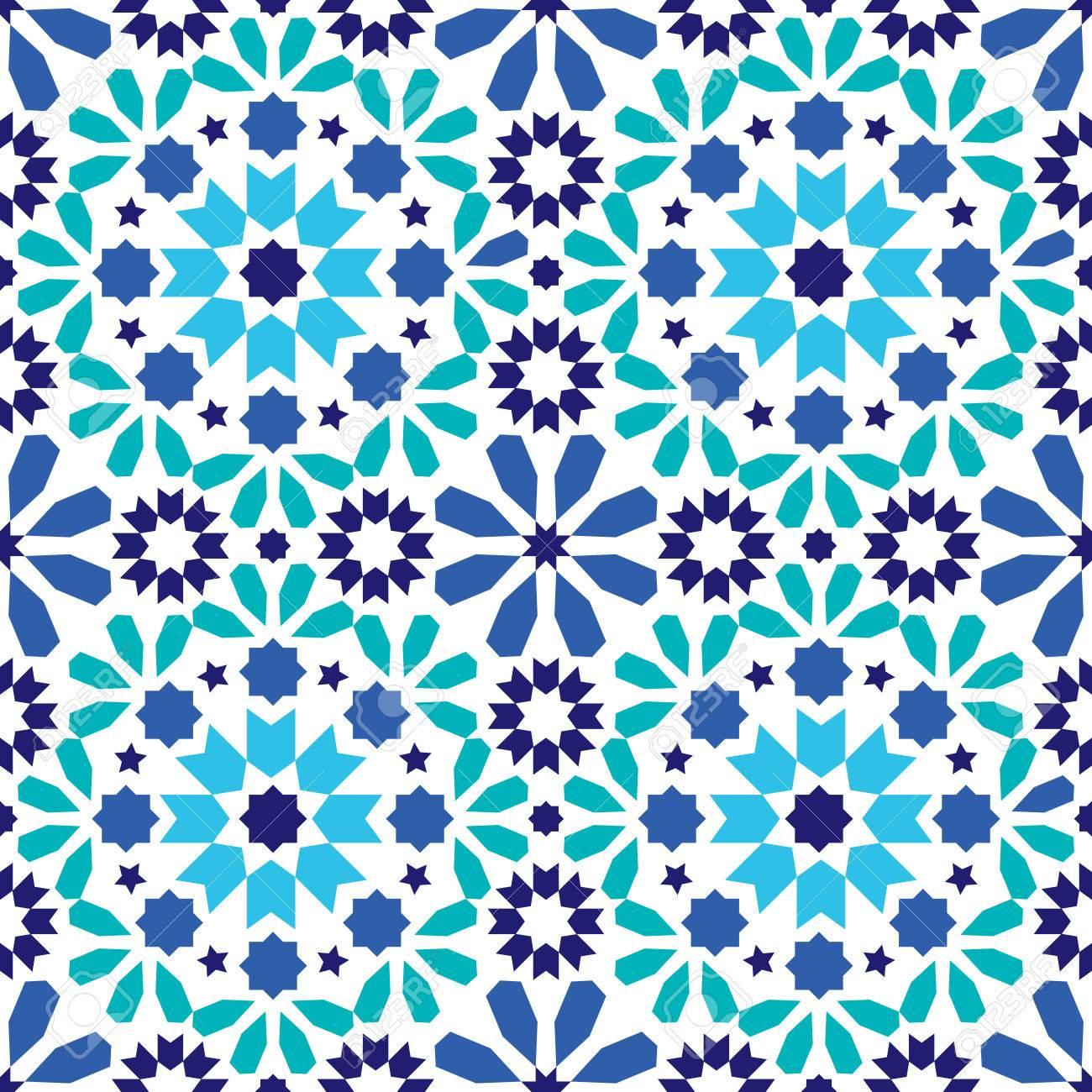 Geometrische Nahtlose Muster Marokkanischen Fliesen Design