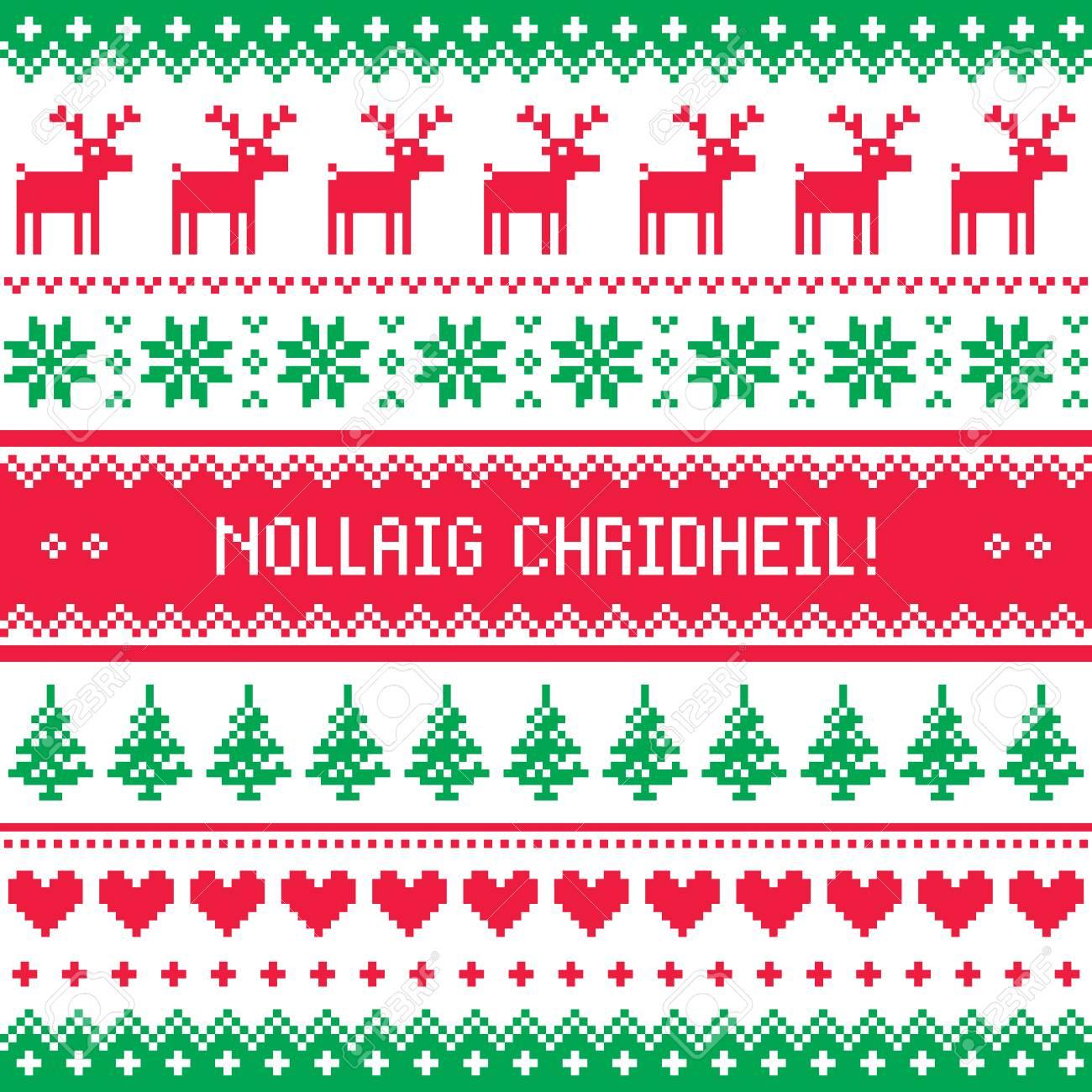 Merry christmas in scottish gaelic greetings card seamless pattern merry christmas in scottish gaelic greetings card seamless pattern stock vector 80836548 m4hsunfo