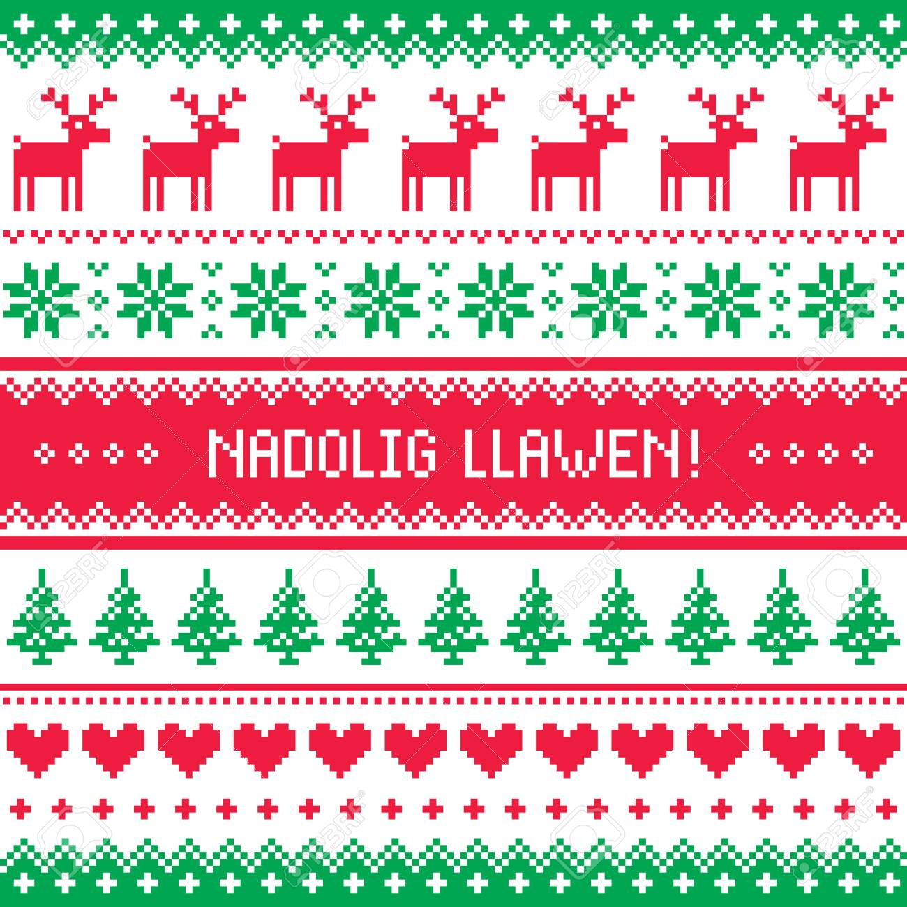 Nadolig llawen merry christmas in welsh greetings card seamless nadolig llawen merry christmas in welsh greetings card seamless pattern stock vector 82050649 m4hsunfo