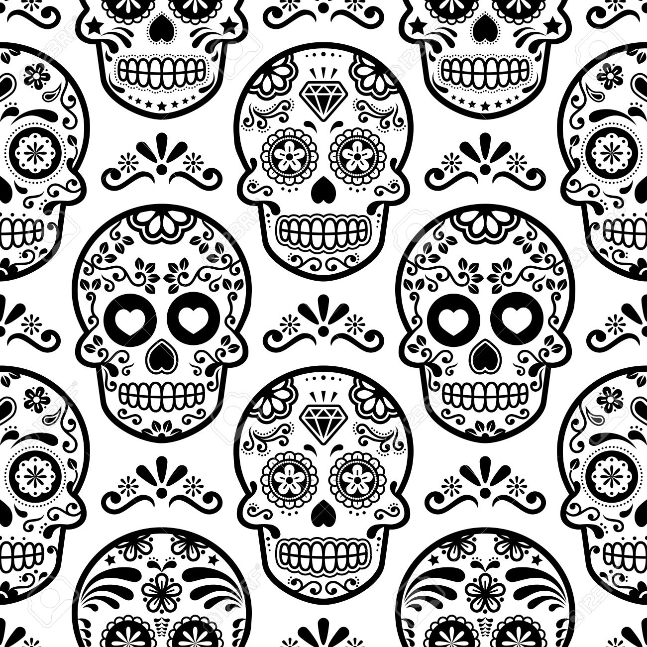 Sugar skull template eliolera looking for free pumpkin patterns you can find easy free pronofoot35fo Images