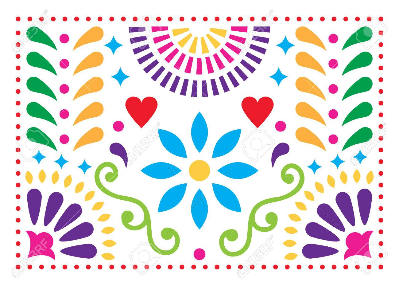 Mexican folk art vector pattern colorful design with flowers mexican folk art vector pattern colorful design with flowers inspired by traditional art form mexico mightylinksfo Gallery