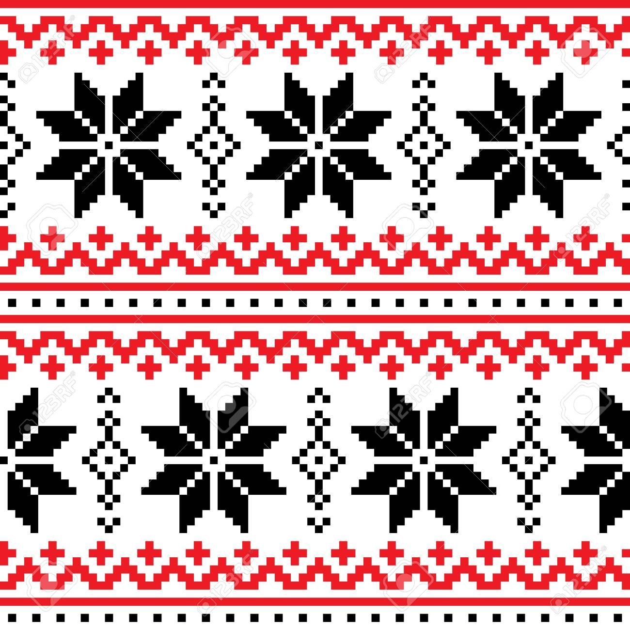 Navidad, Invierno Vector De Patrones Sin Fisuras Con Copos De Nieve ...