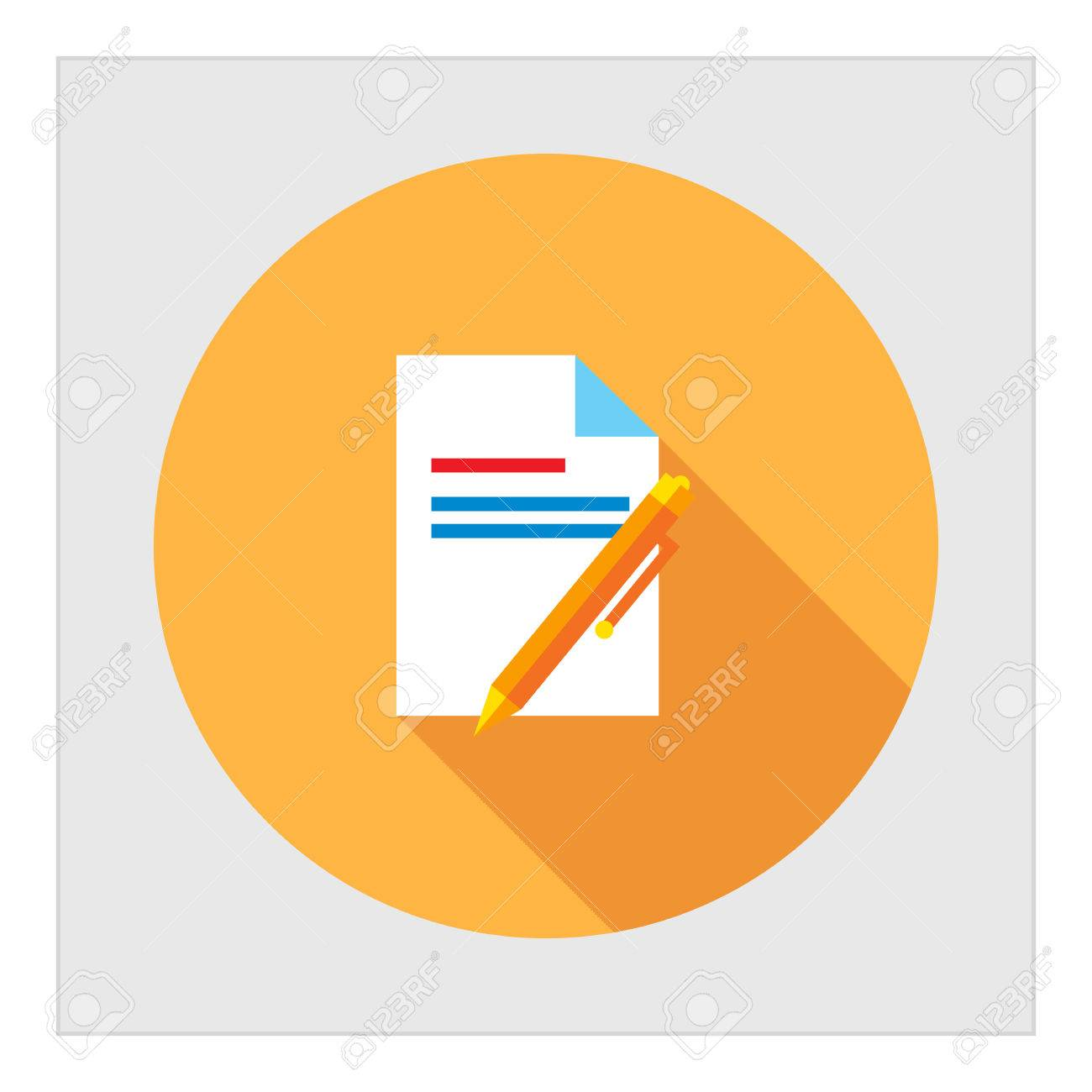 Icon of text document and pen royalty free cliparts vectors and icon of text document and pen stock vector 42196057 biocorpaavc Choice Image