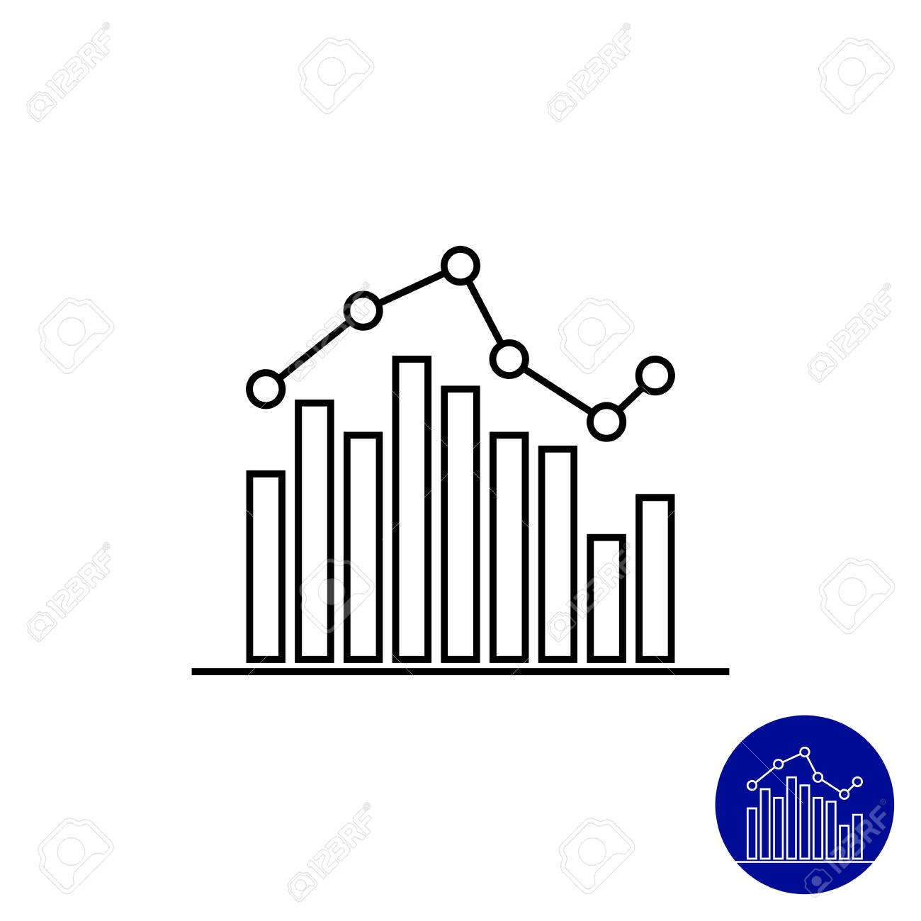 Icon of bar chart with line graph royalty free cliparts vectors icon of bar chart with line graph stock vector 44001525 ccuart Choice Image
