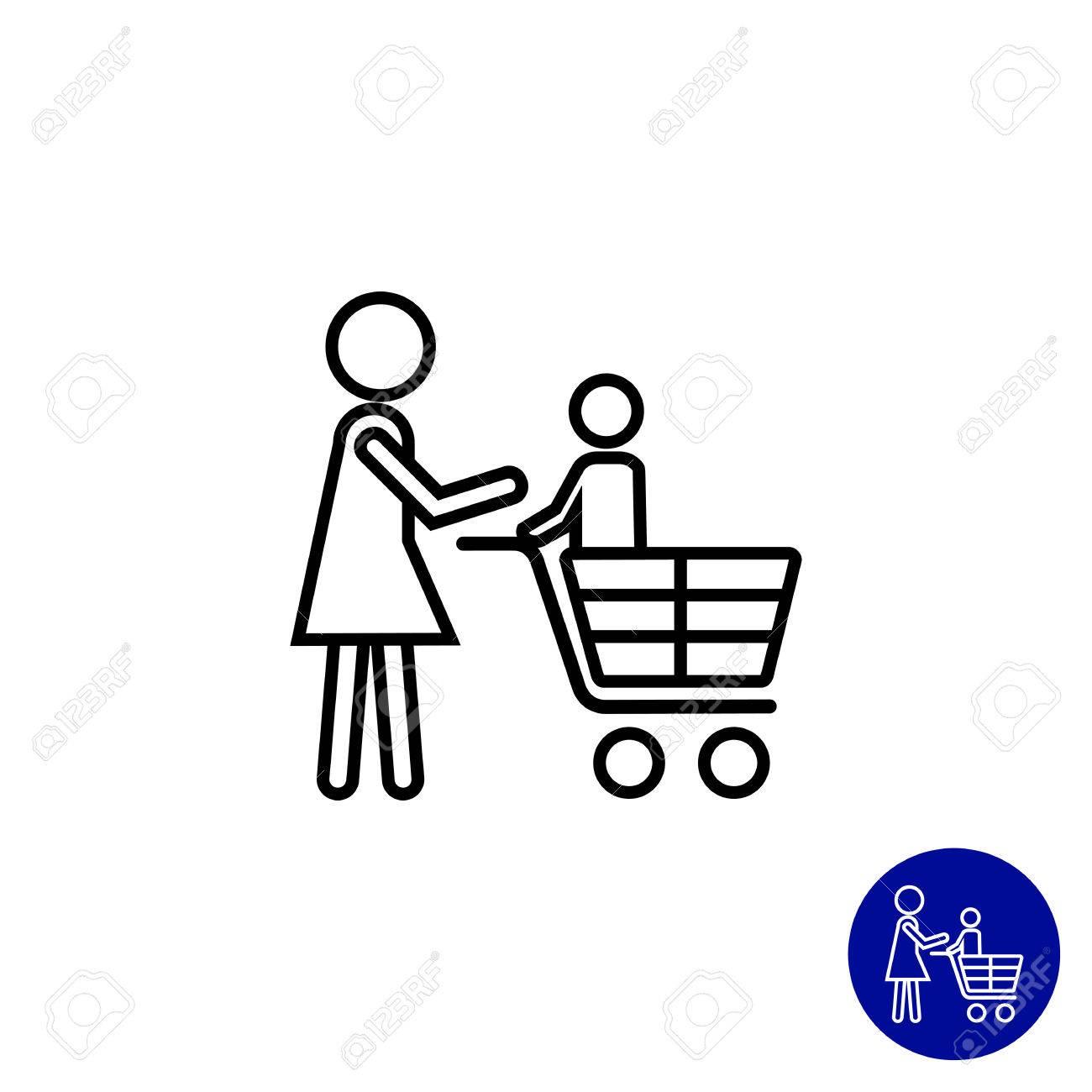 Family Shopping Silhouette