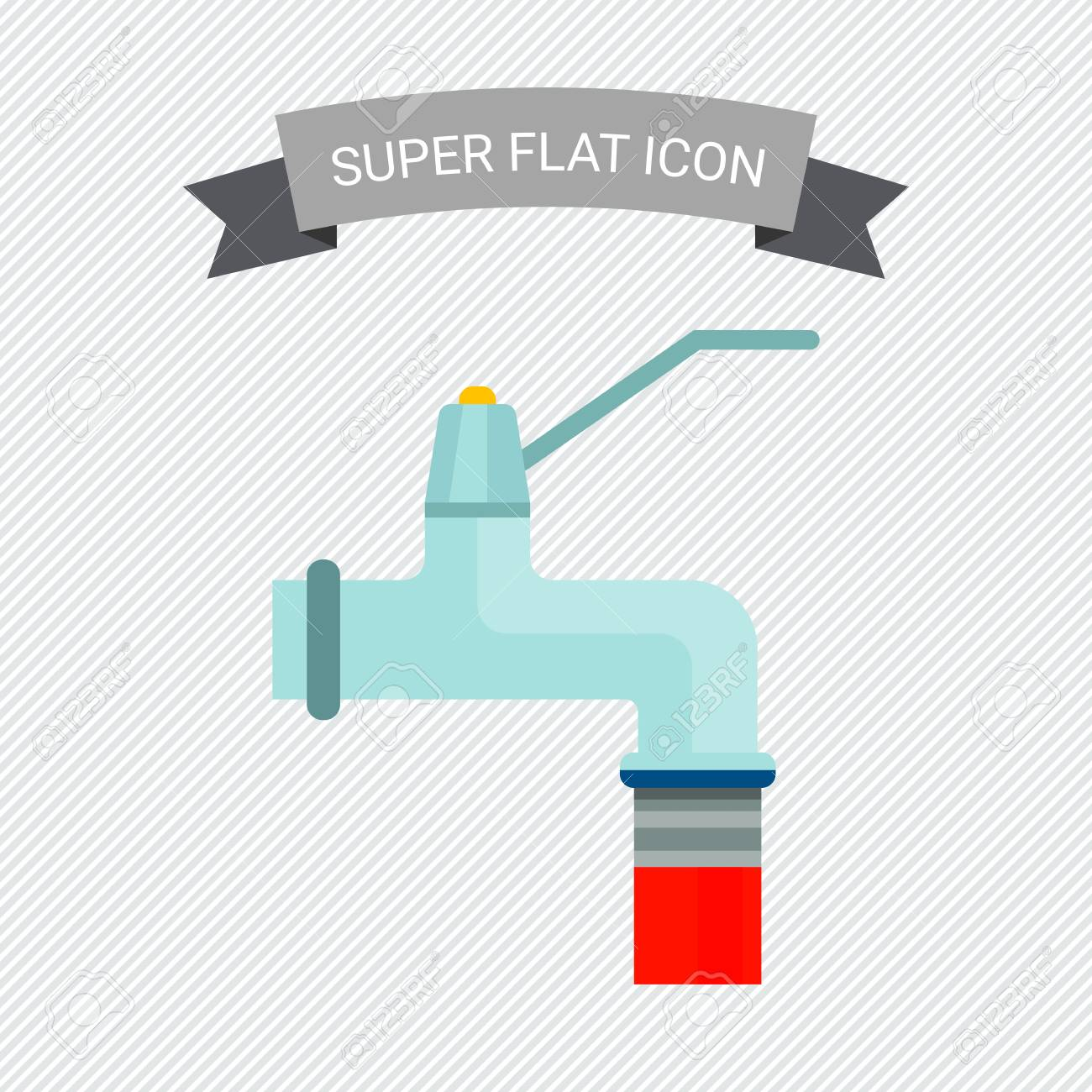 Icon Of Faucet And Attached Garden Hose Royalty Free Cliparts ...