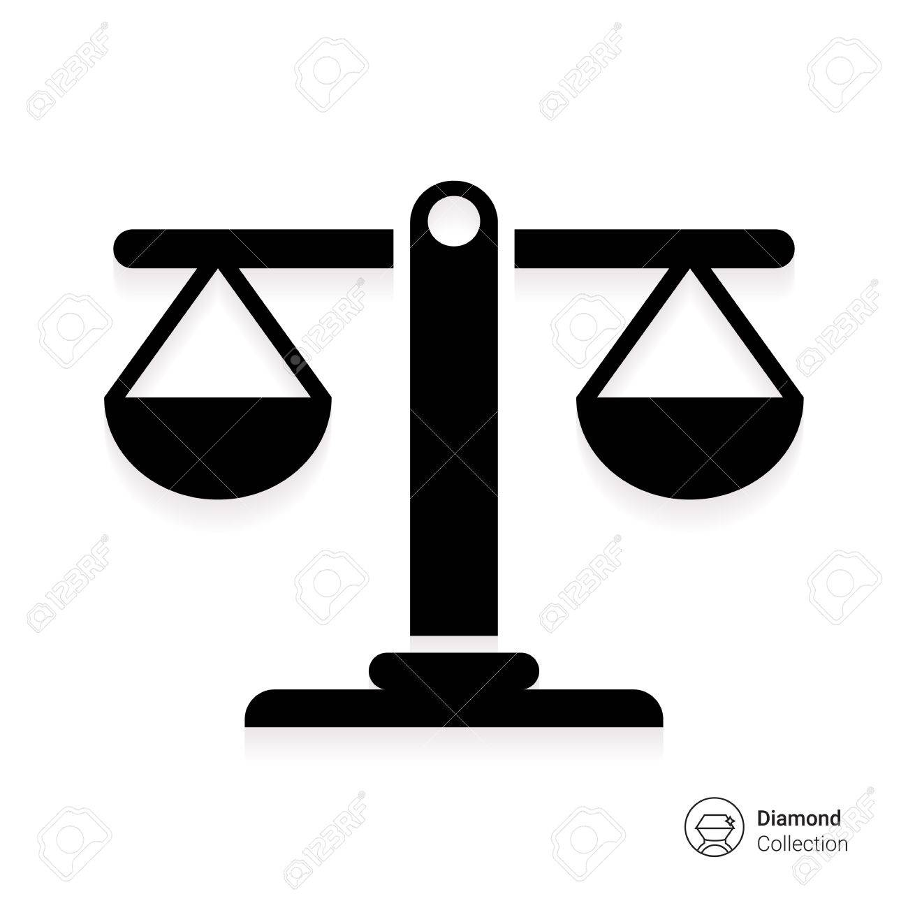 Icon Of Balanced Scales Royalty Free Cliparts, Vectors, And Stock ...