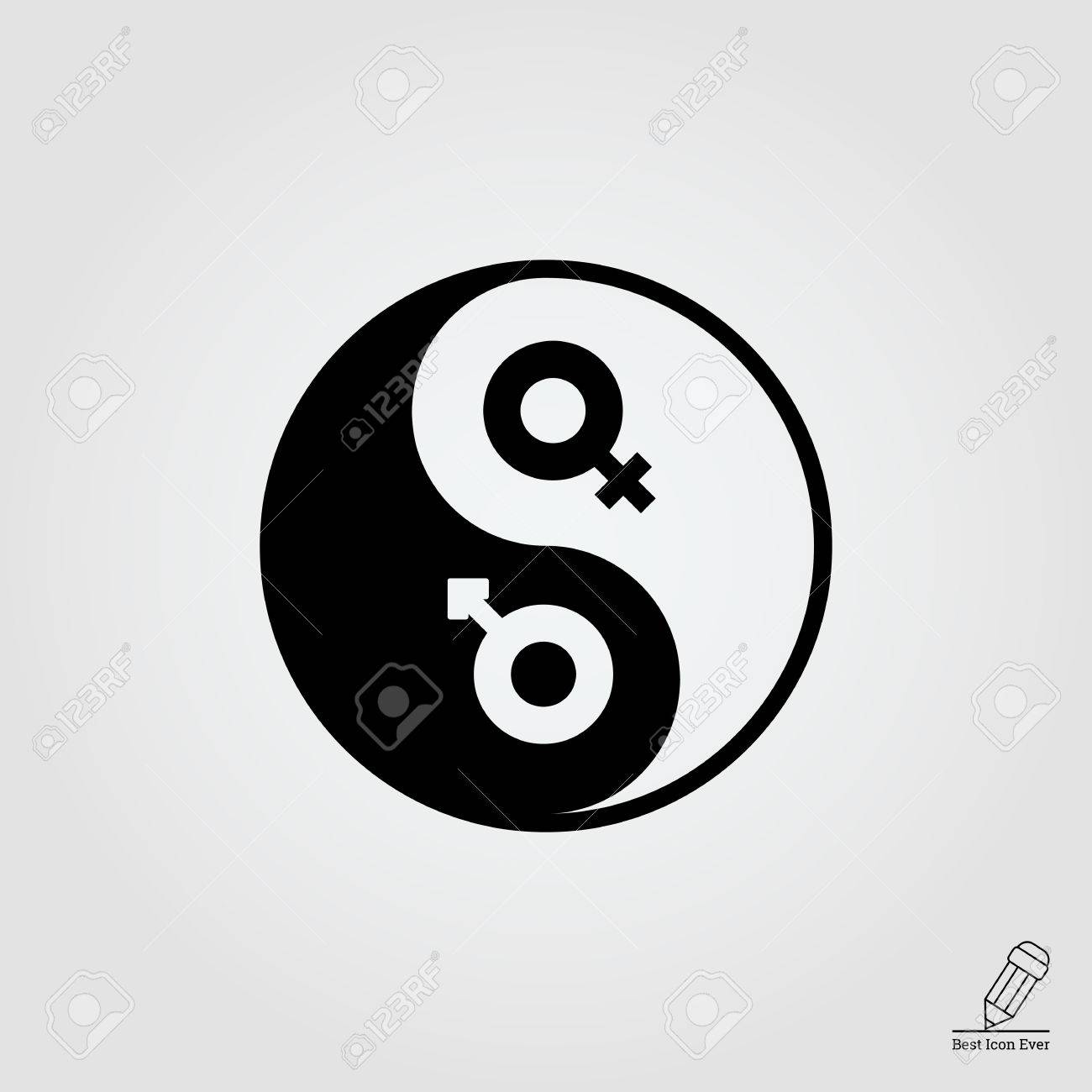 Vector icon of yin yang symbol with male and female gender signs vector icon of yin yang symbol with male and female gender signs stock vector 46863589 biocorpaavc