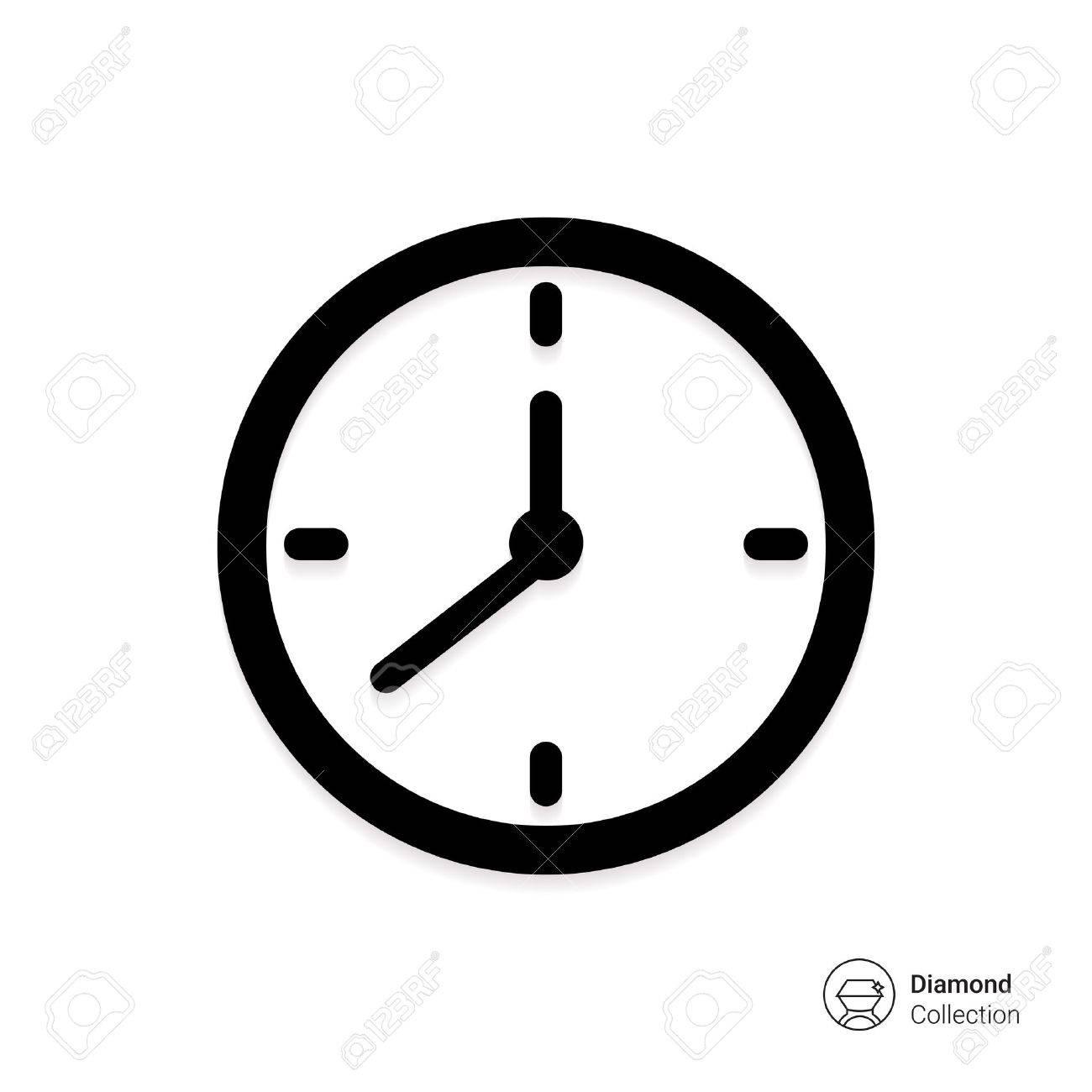 Vector Icone Horloge Murale Clip Art Libres De Droits Vecteurs Et Illustration Image 46852651