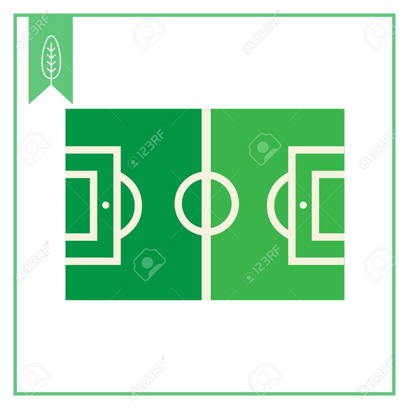 vector icon of green football field with marking royalty free rh 123rf com american football field vector football field vector file