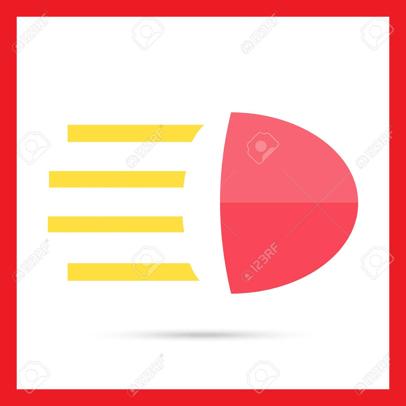 Icon Of High Beam Sign Royalty Free Cliparts Vectors And Stock