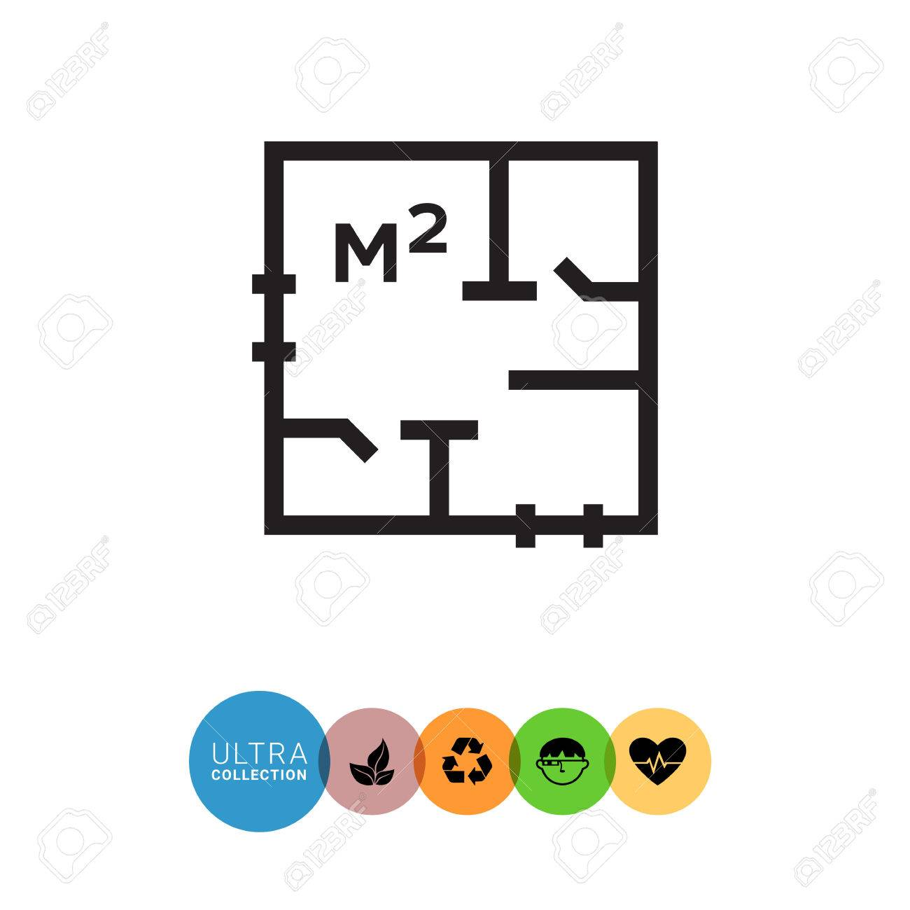 Icon of apartment scheme with square meter designation royalty icon of apartment scheme with square meter designation stock vector 56525834 biocorpaavc