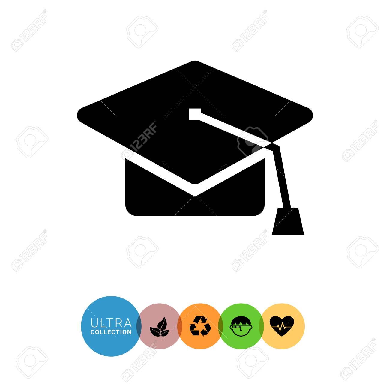 limpide en vue acheter maintenant moins cher Icône de chapeau de fin d'études