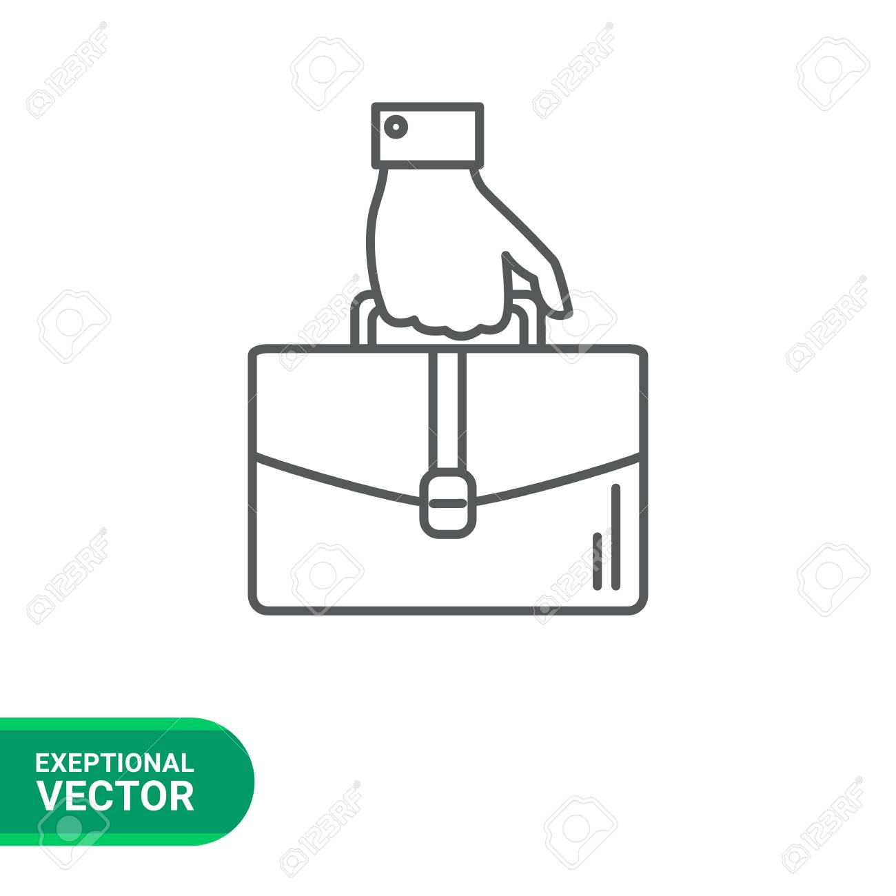 Icon Of Man Hand Carrying Briefcase Royalty Free Cliparts Vectors And Stock Illustration Image 58665964