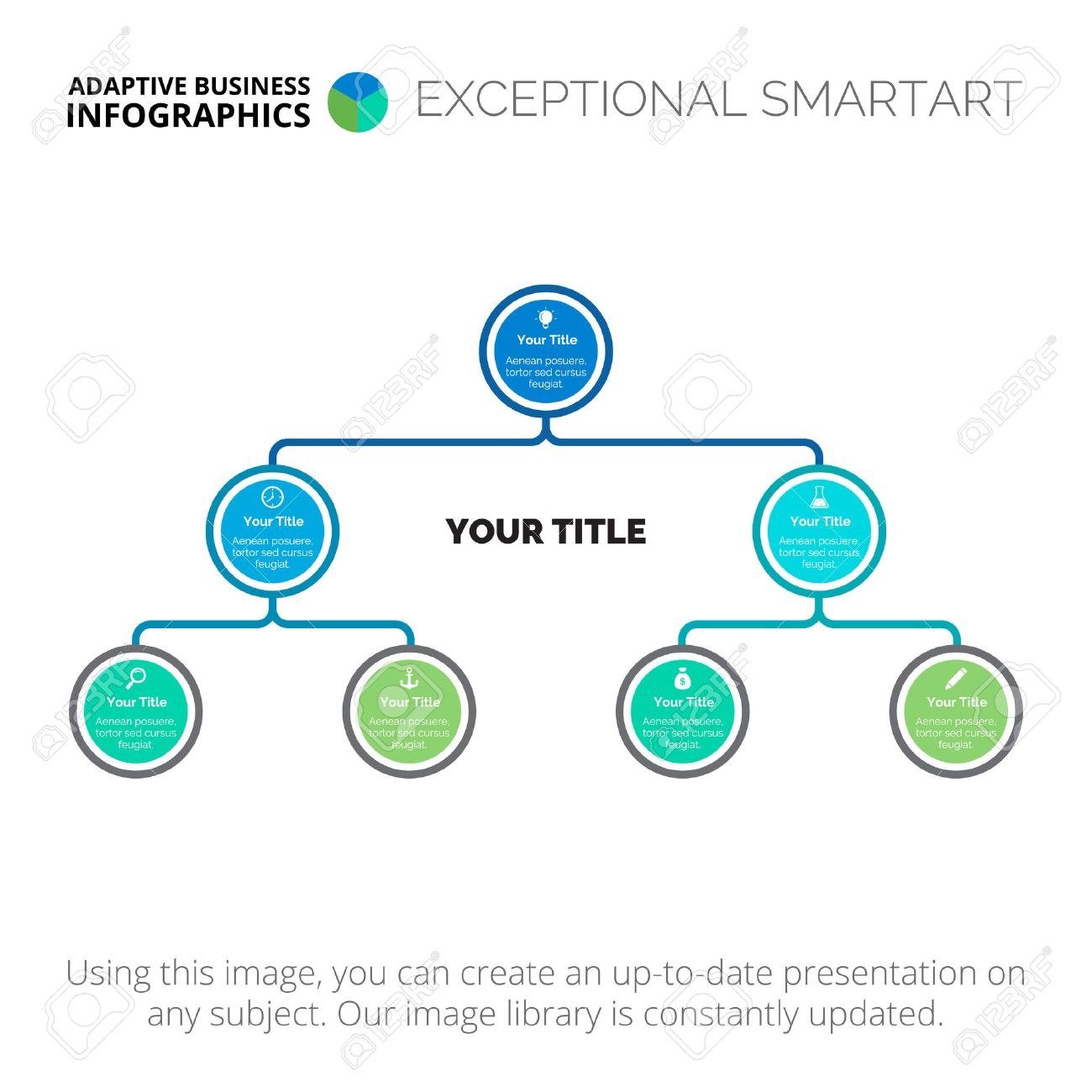 Structure diagram element of tree chart presentation diagram structure diagram element of tree chart presentation diagram concept for organizational chart ccuart Images