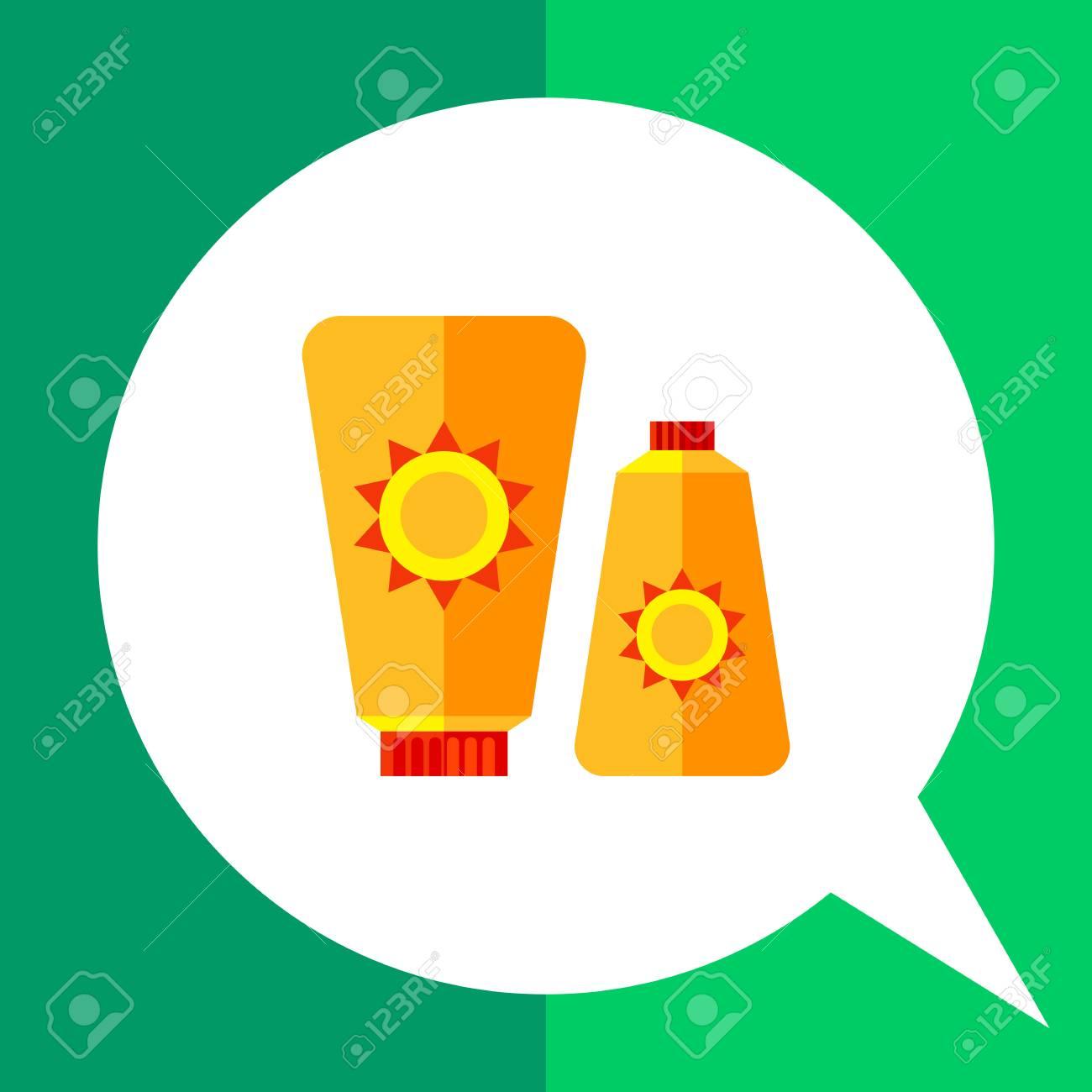 日焼け止めクリームのアイコン太陽記号で 2 つのスキン クリーム