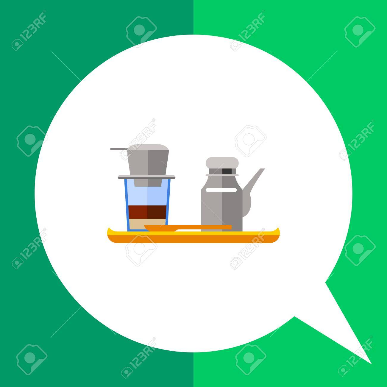 Icon Of Vietnamese Coffee Set Coffeepot And Cup With Filter Royalty Free Cliparts Vectors And Stock Illustration Image 61336332