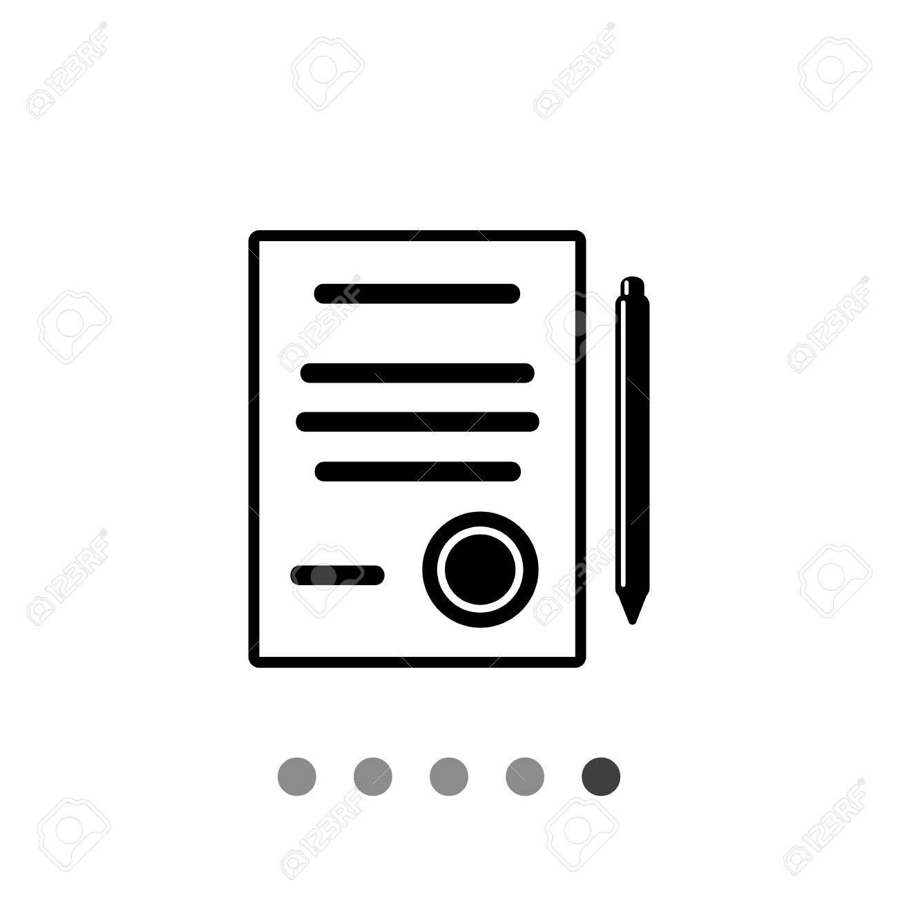 Document And Pen Contract Agreement Conclusion Signing Document