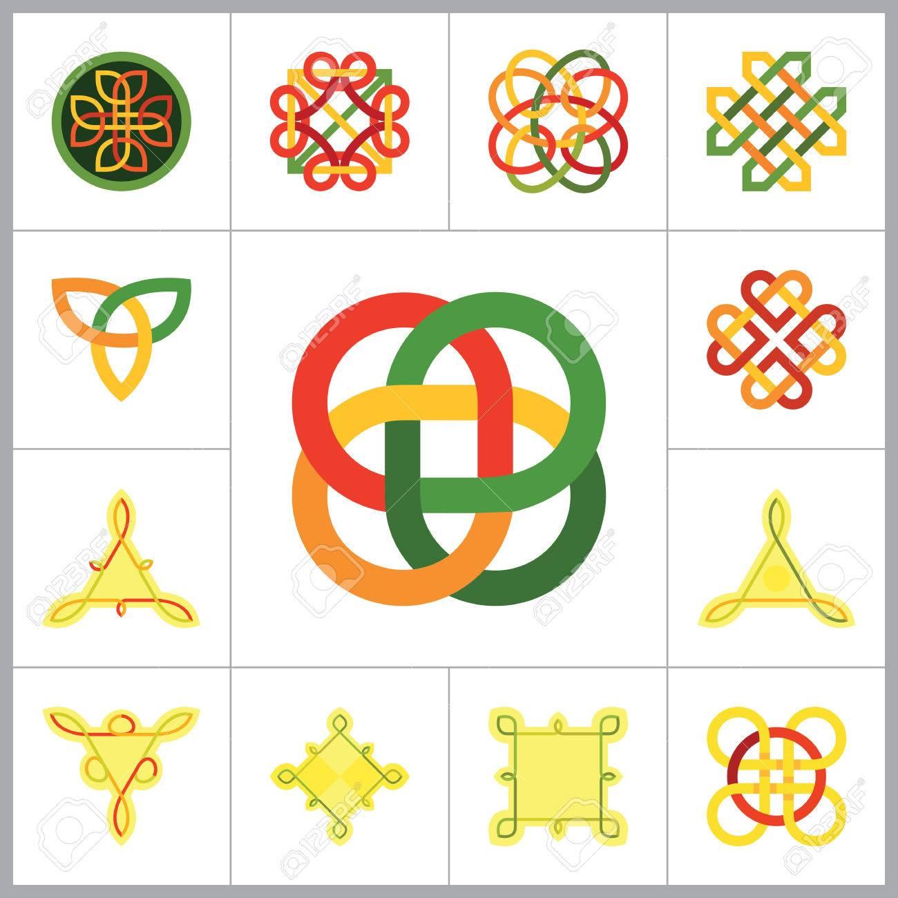 Celtic Ornament Icon Set Infinite Knot Endless Knot Eternal Knot