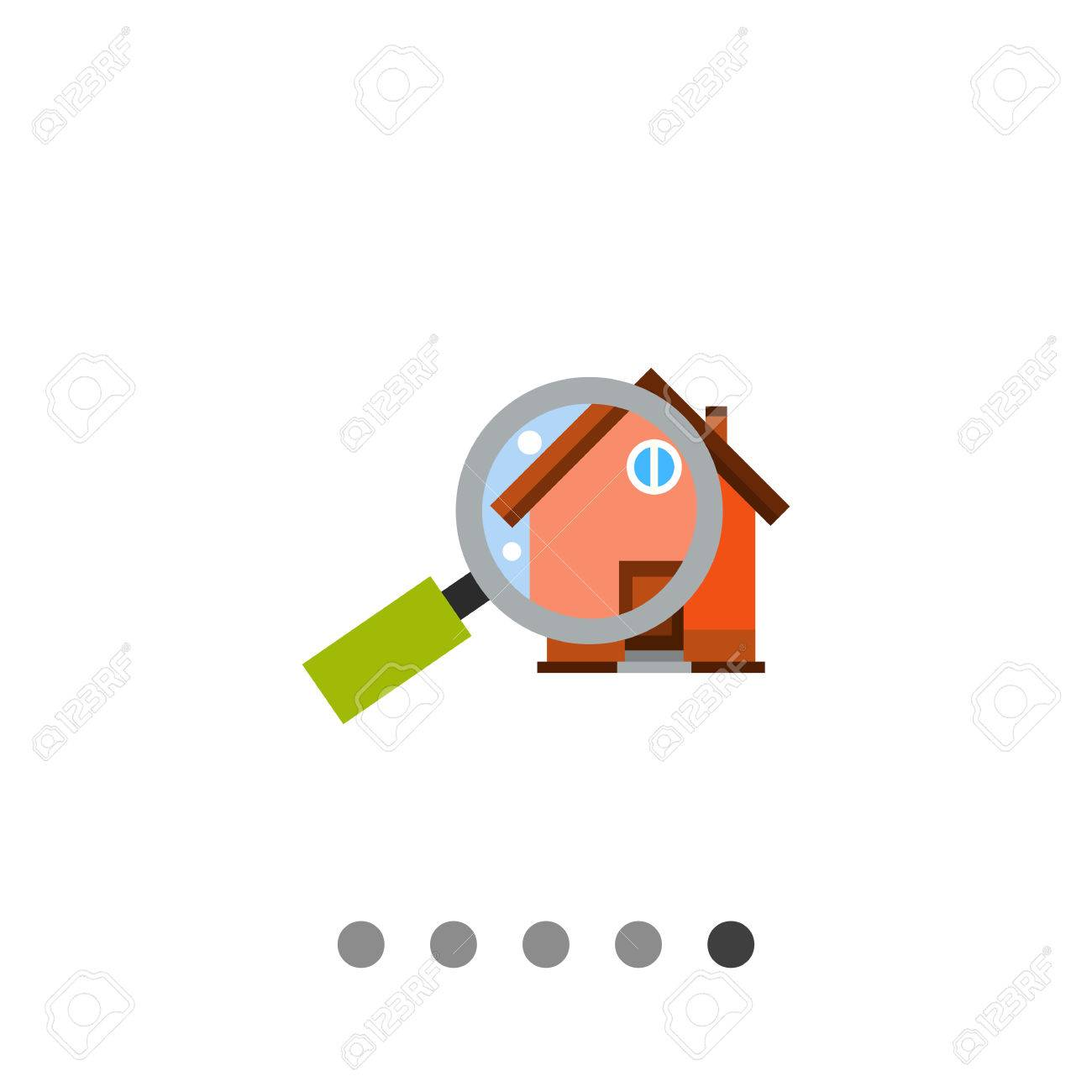 Lupe Vor Dem Haus. Zoom, Zu Hause, Beurteilung. Haus-Konzept. Kann ...