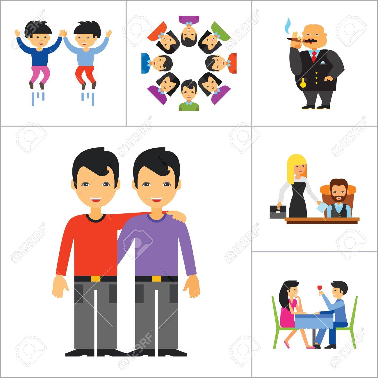 Famille Affichage Respect Amour Symbole Couple On Park Bench Rencontre équipe Dîner Amis Greeting Directeur patron Idée Common Rich Personne