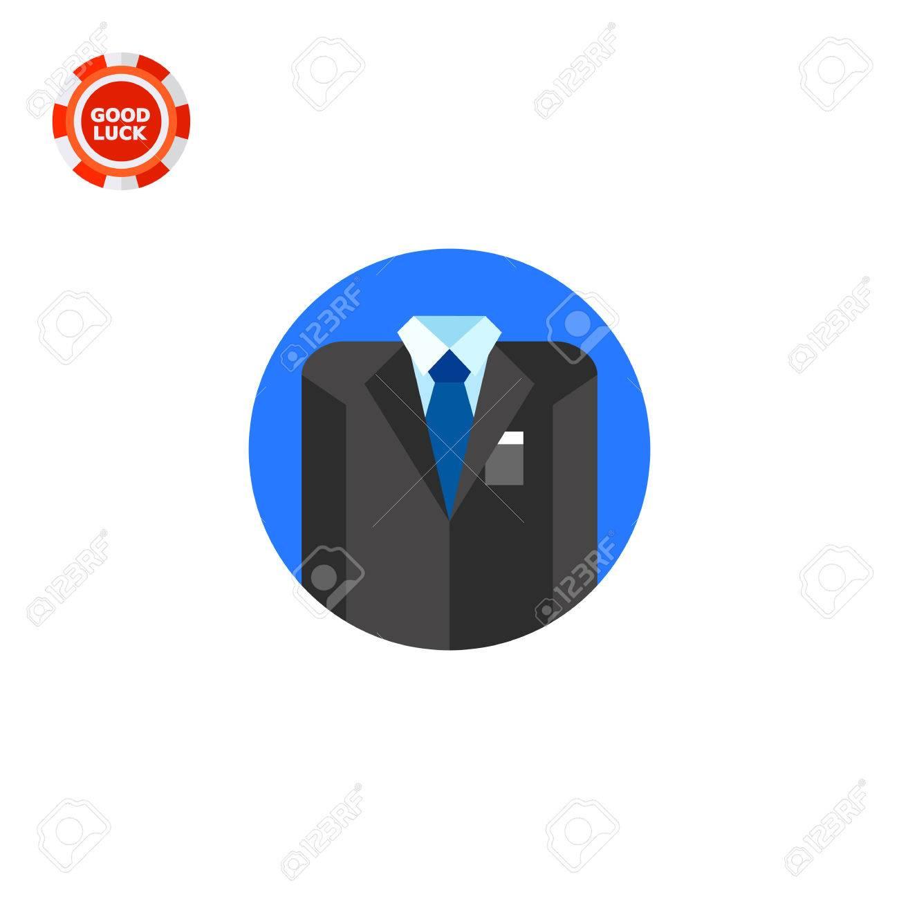 Affaires Elegant Costume Gris Avec Chemise Et Cravate Bleue