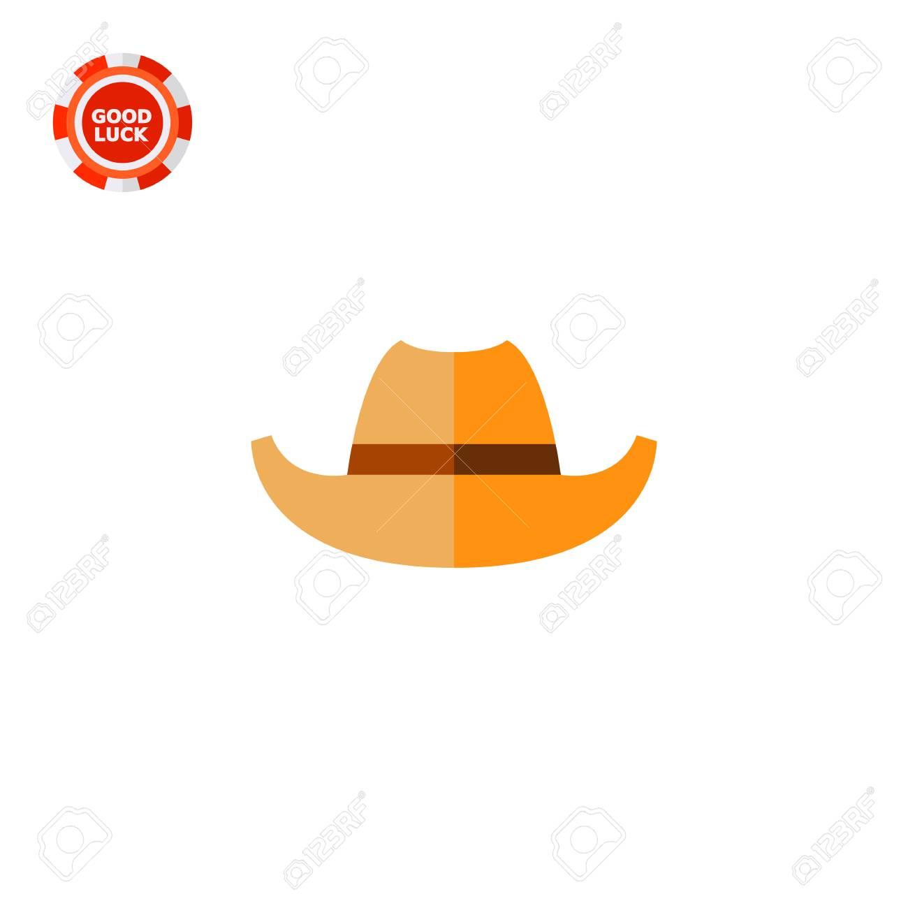 カウボーイ ハット。古い、保護、西。帽子の概念。ファッション、衣類