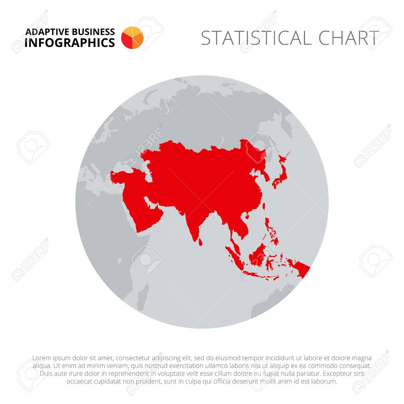 asia on earth globe element of brochure presentation map