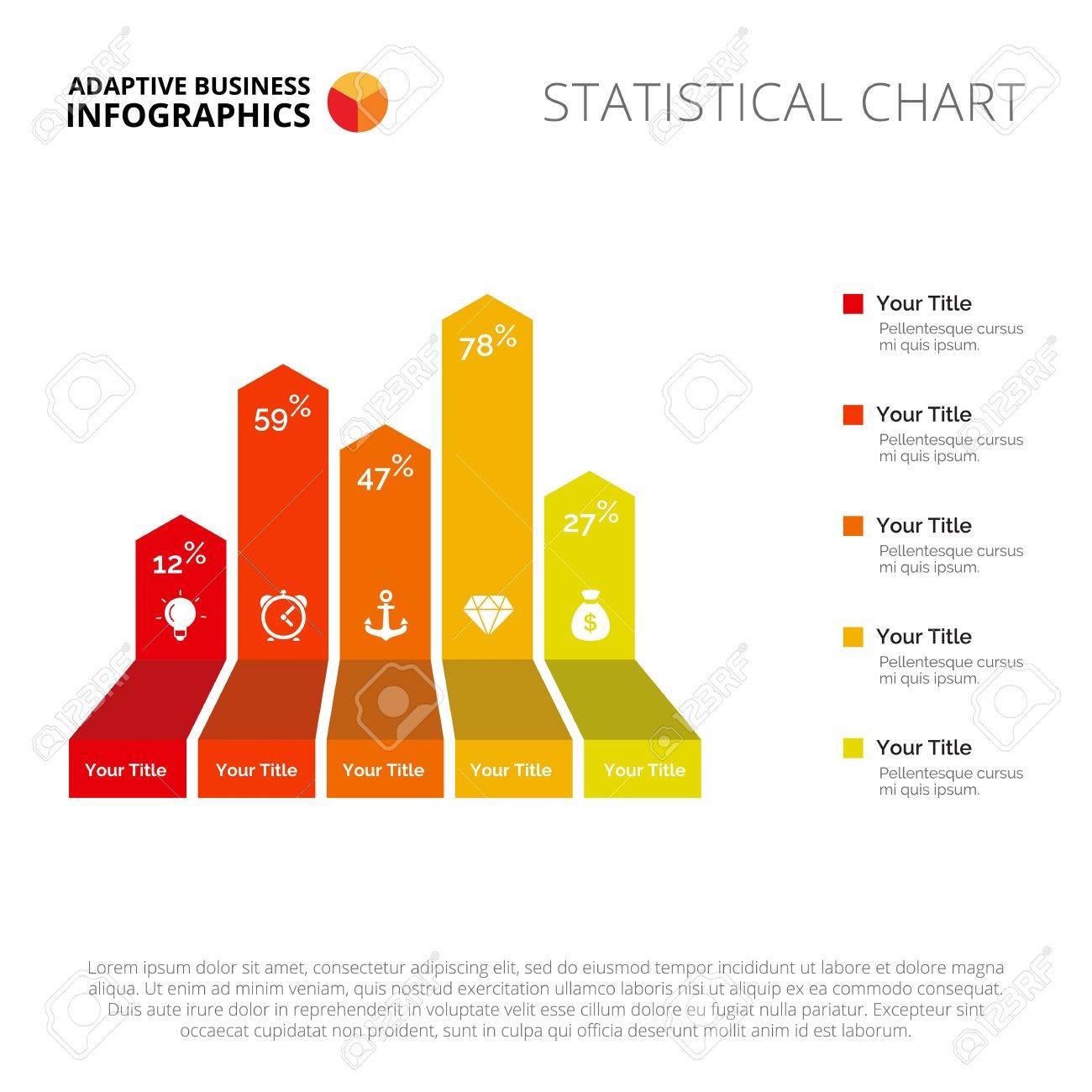 Gráfico De Barras Plantilla De Diapositiva. Datos De La Empresa ...
