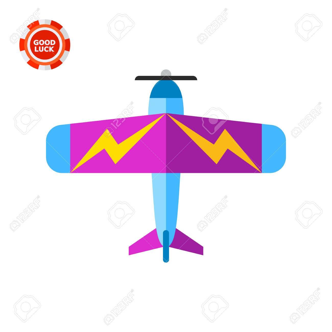 羽は、上面の雷写真付きのカラフルな軽飛行機。旅客、プライベート便