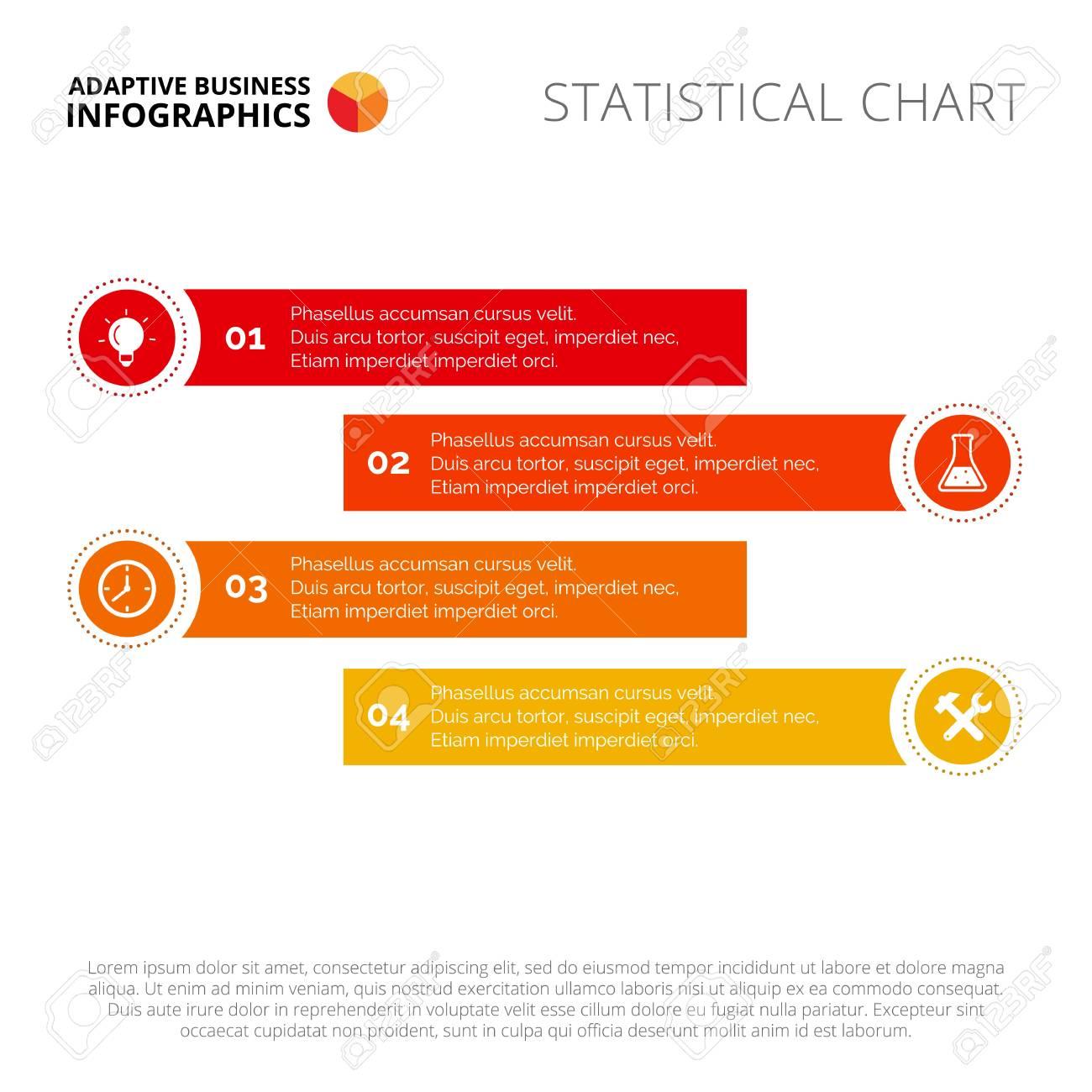 Process Chart Slide Template. Business Data. Graph, Diagram ...