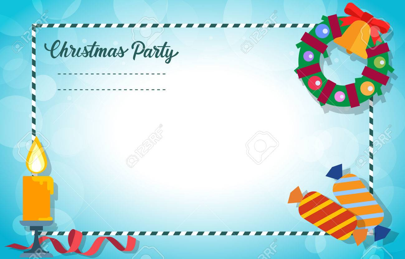 Christmas Invitation Card Design Christmas Party Lettering With