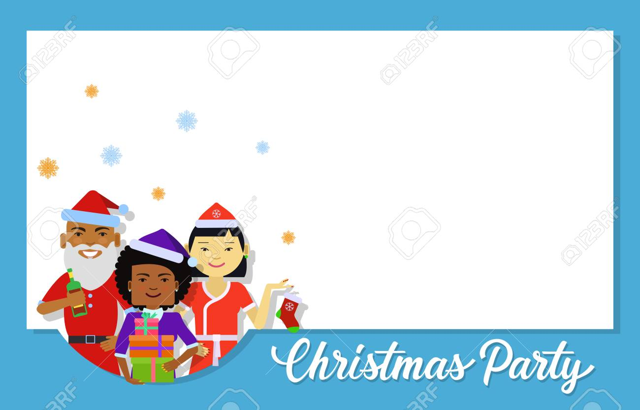 Christmas Invitation Card Design. Christmas Party Lettering With ...
