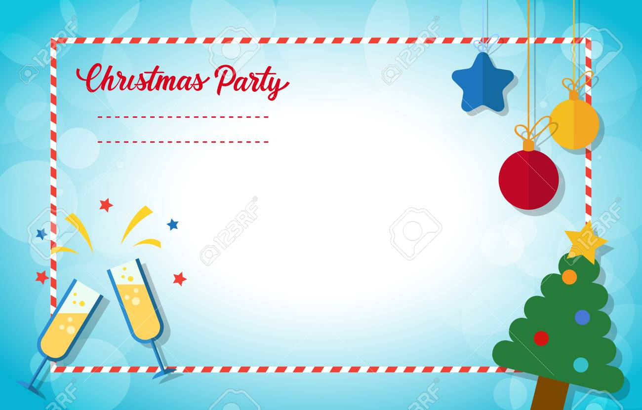 invitation card for christmas