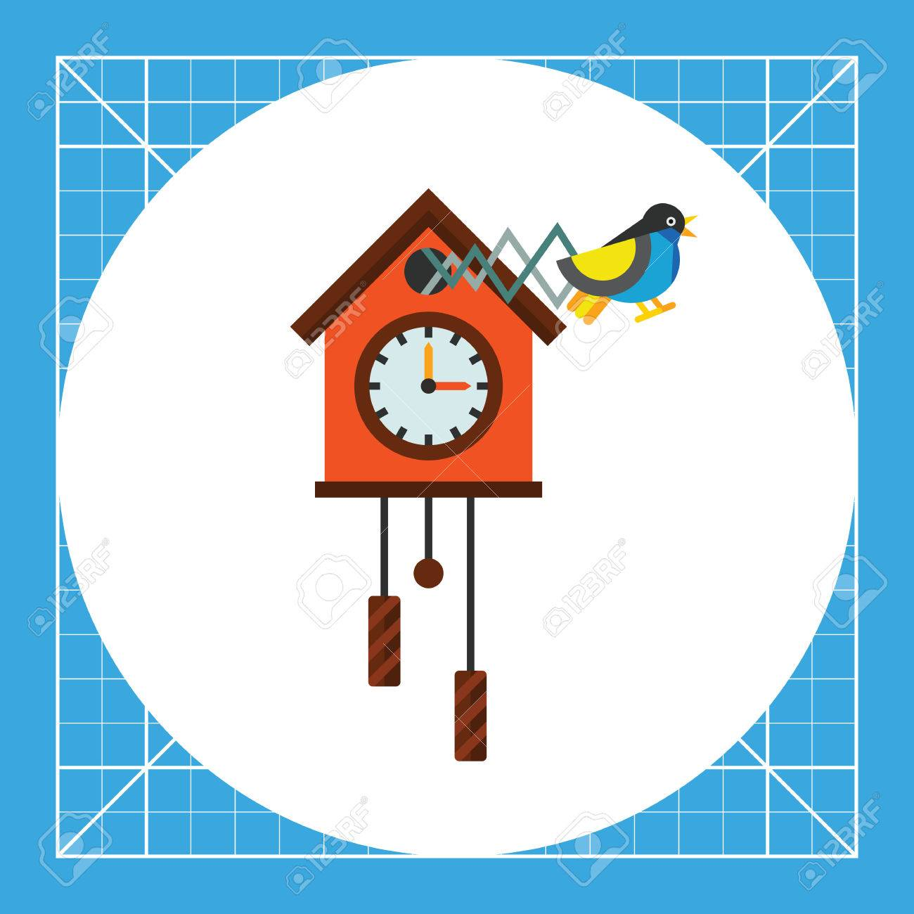 illustration of cuckoo clock time clock hour hand minute