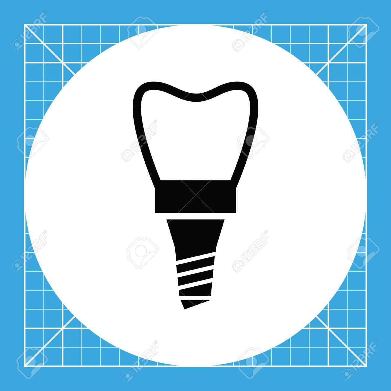 Zahnimplantat. Gebiss, Metall, Pflege. Zähne-Konzept. Kann Für ...