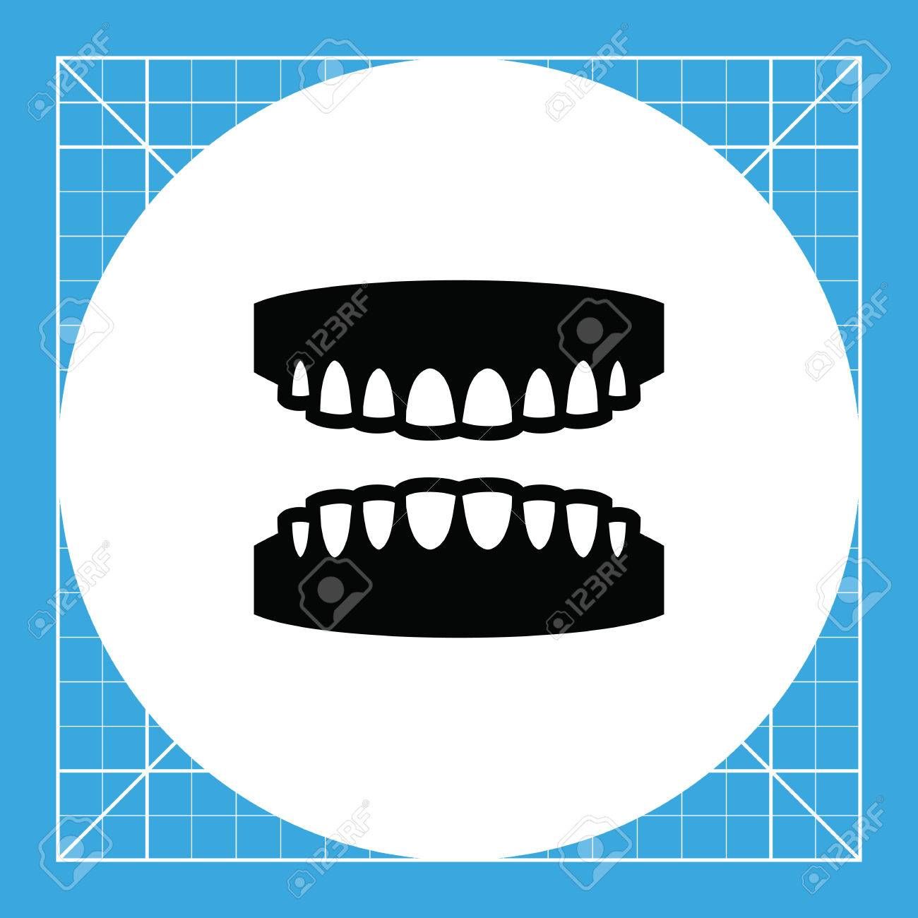 Gums With Teeth Mouth Dental Care Teeth Concept Can Be Used