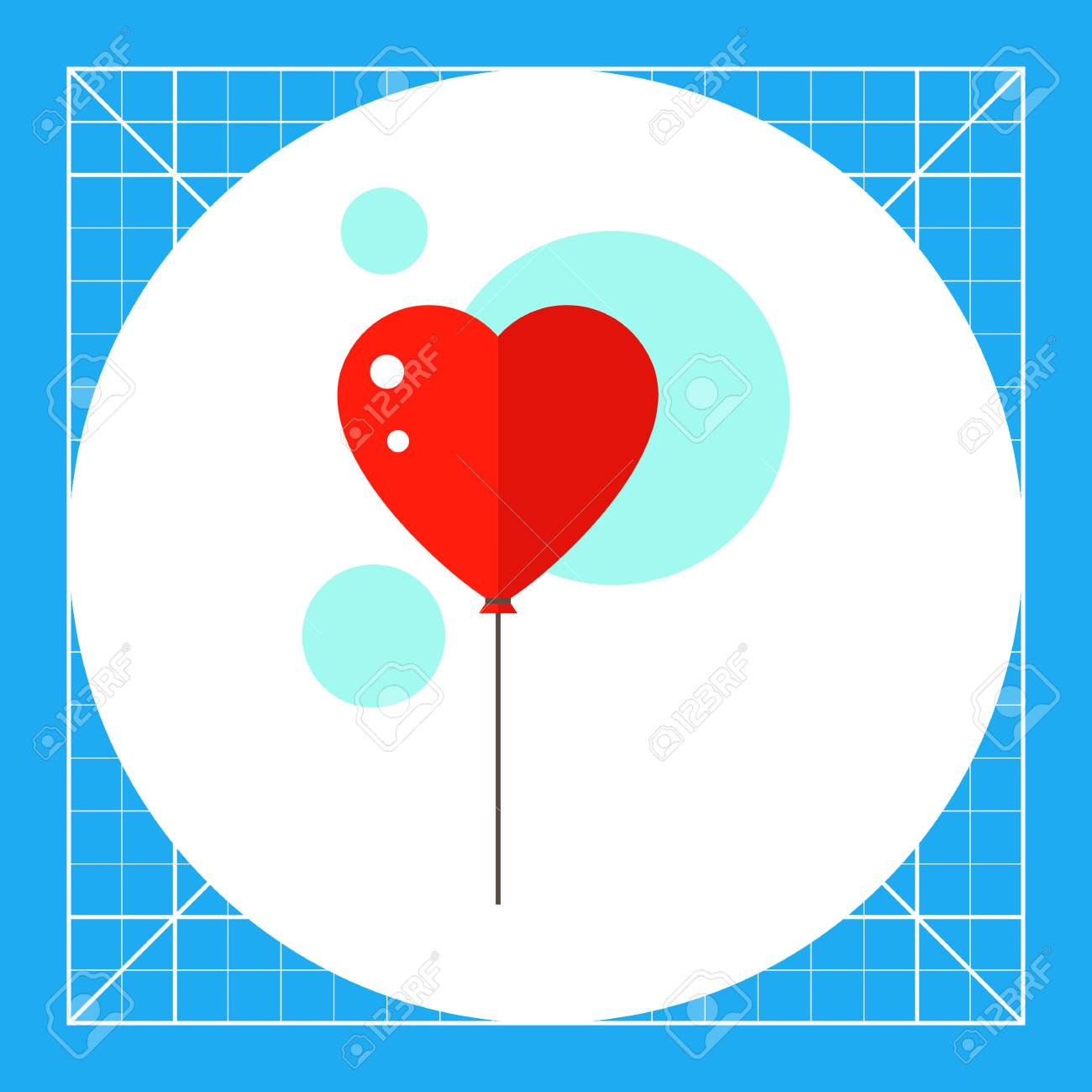 Heart Shaped Balloon Inflatable Bright Symbolic Heart Concept
