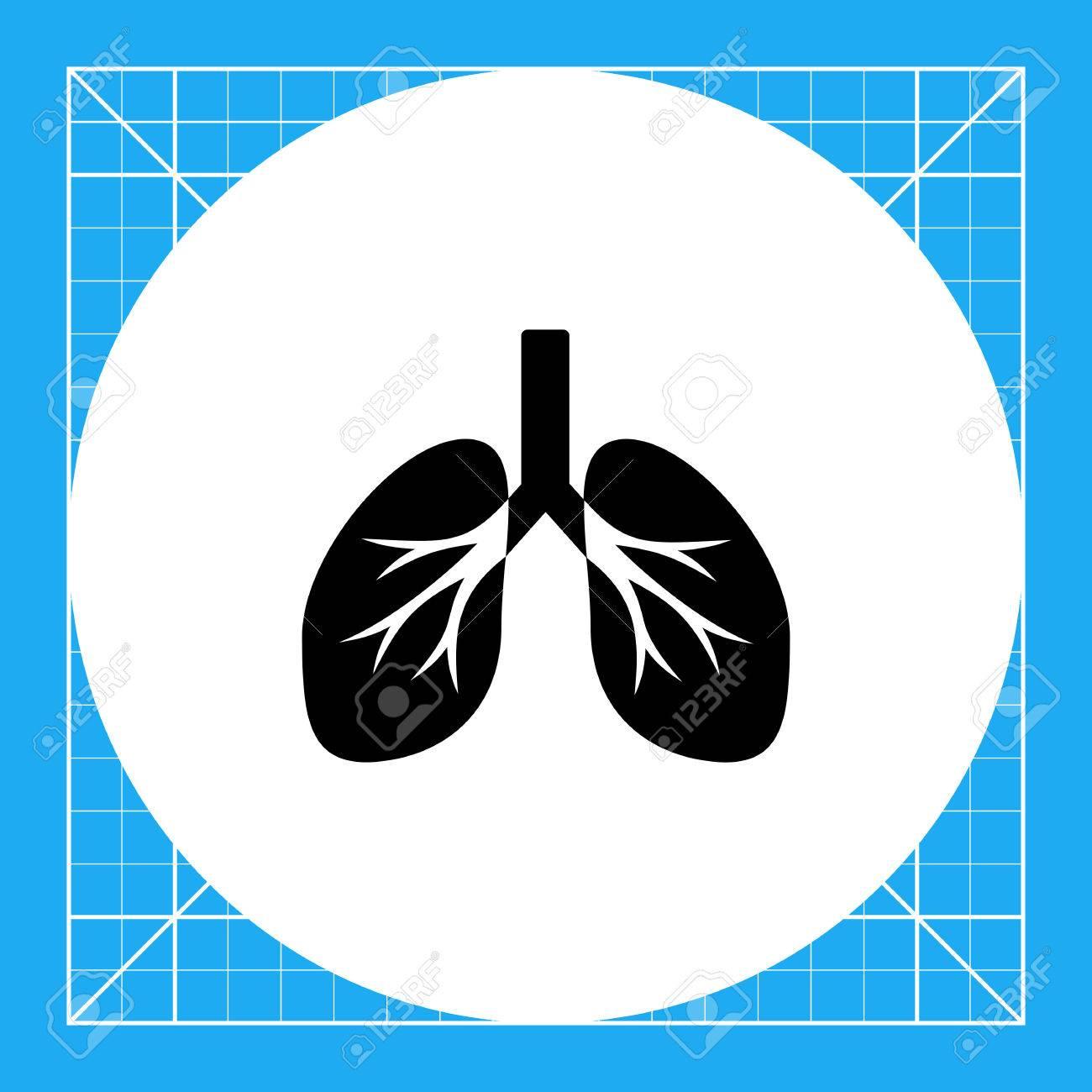Isolierte Menschliche Lunge. Atem, Luft, Rauchen. Lungs Konzept ...