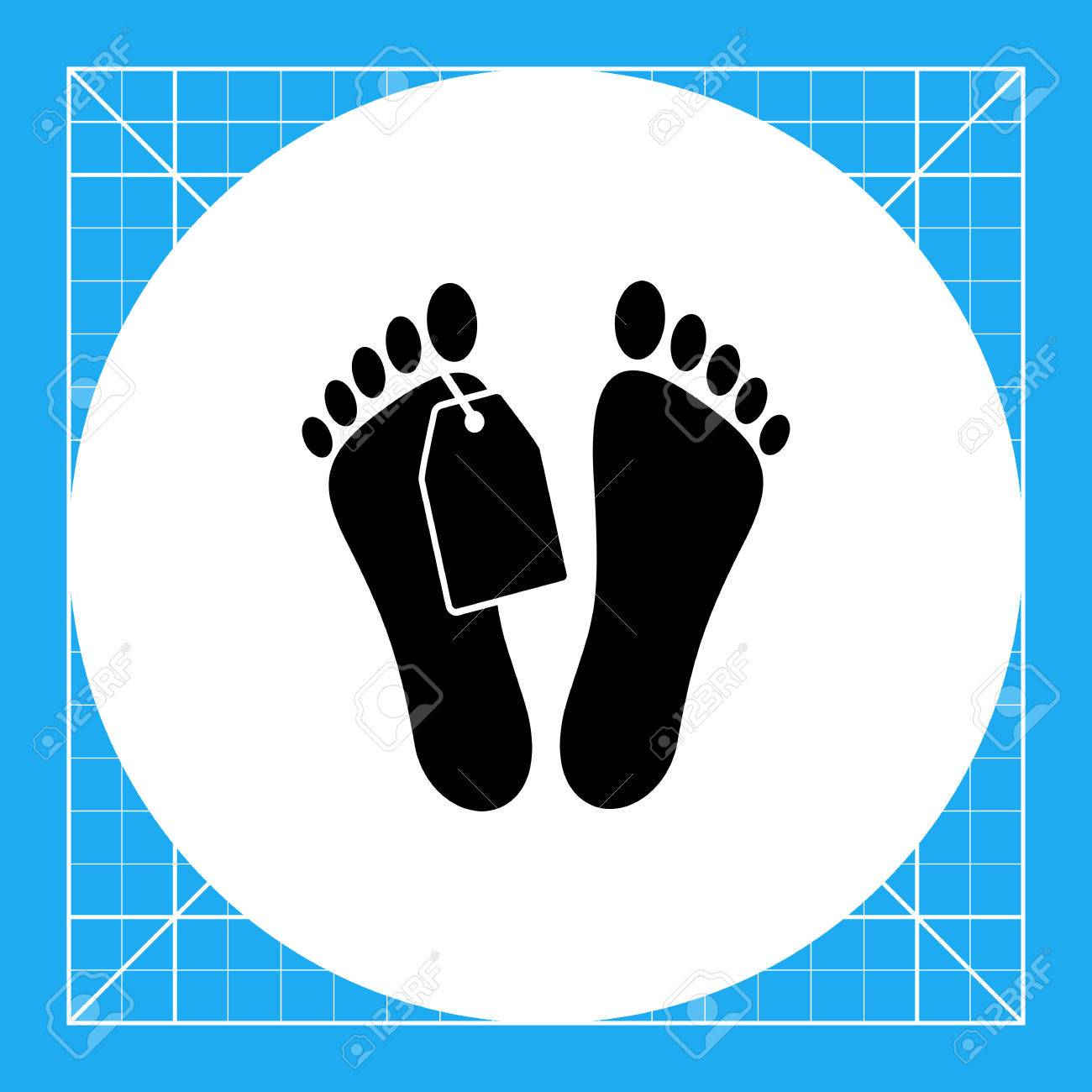 Mans Feet With Tag. Corpse, Illness, Death. Morgue Concept. Can ...