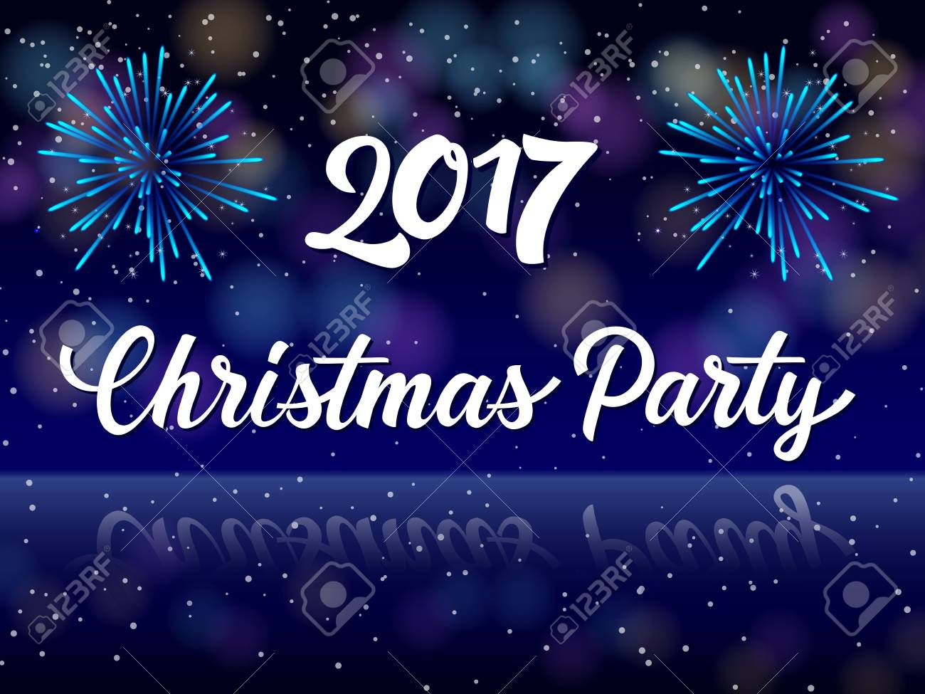 Christmas Party 2017 Lettering. Christmas Invitation With ...