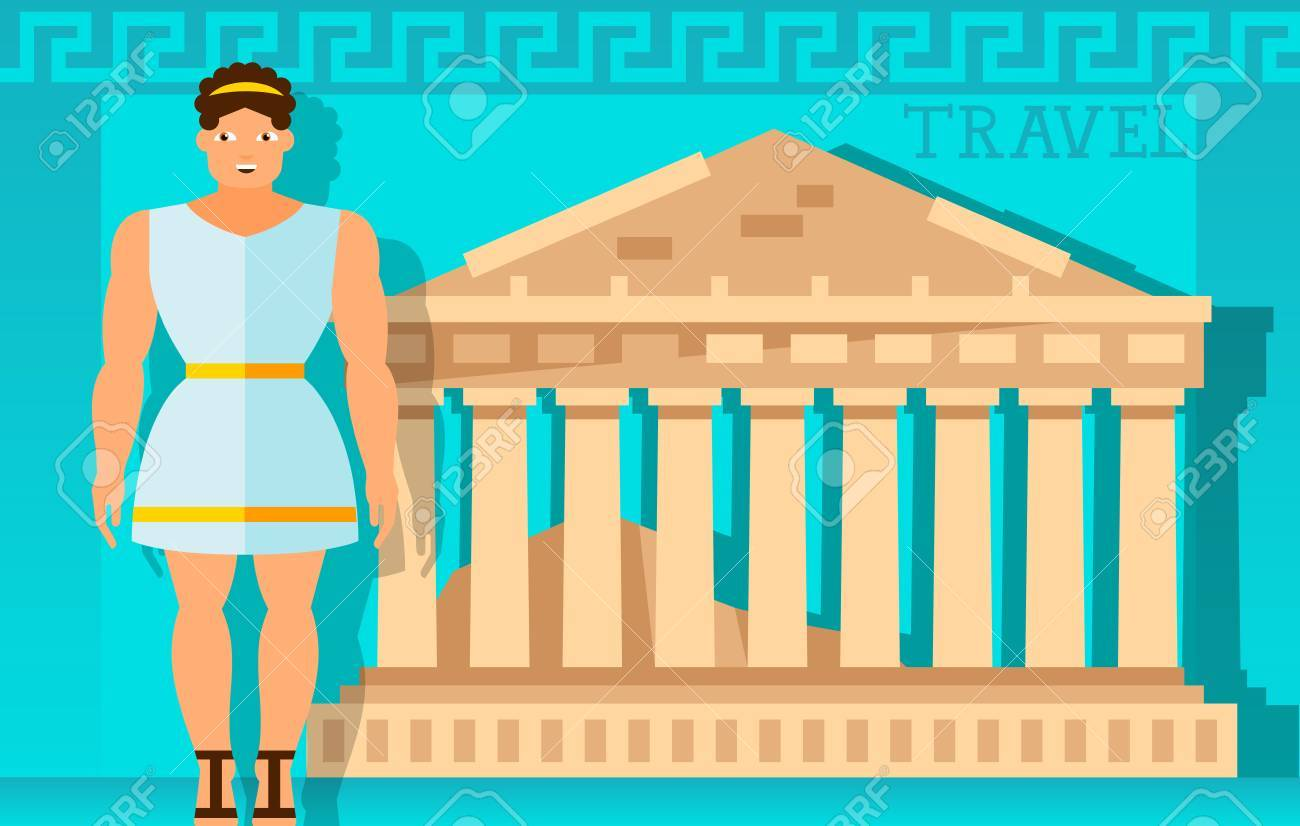 Travel frame with parthenon and greek design element for greeting travel frame with parthenon and greek design element for greeting cards postcards invitations m4hsunfo