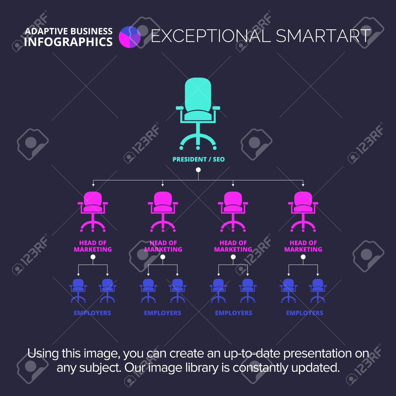 Organization Chart Business Data Graph Diagram Design Creative Royalty Free Cliparts Vectors And Stock Illustration Image 67903605