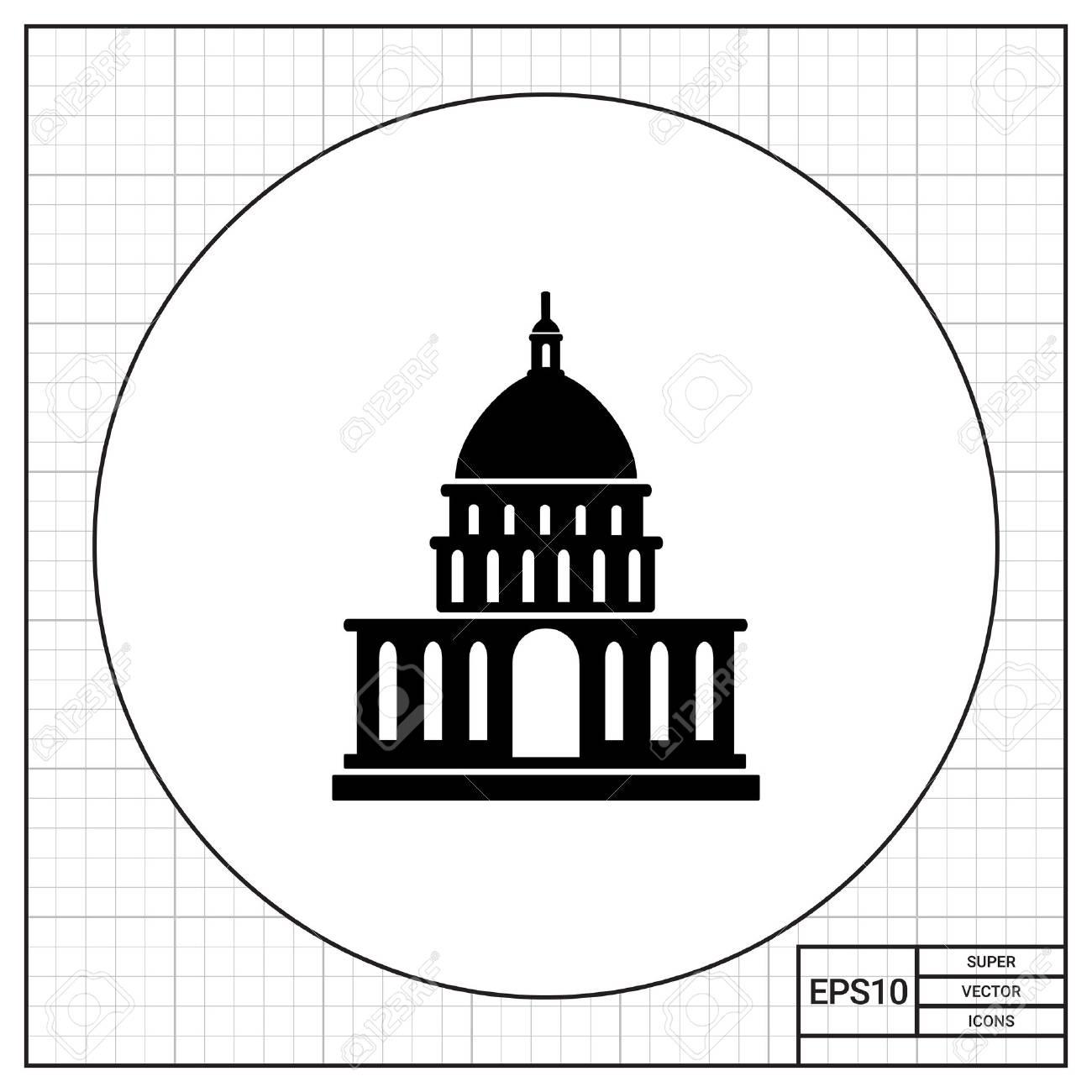 White House simple icon - 68460324