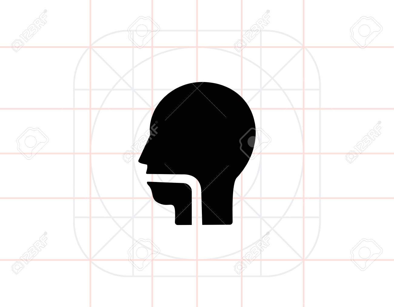 throat simple icon stock vector - 70513822