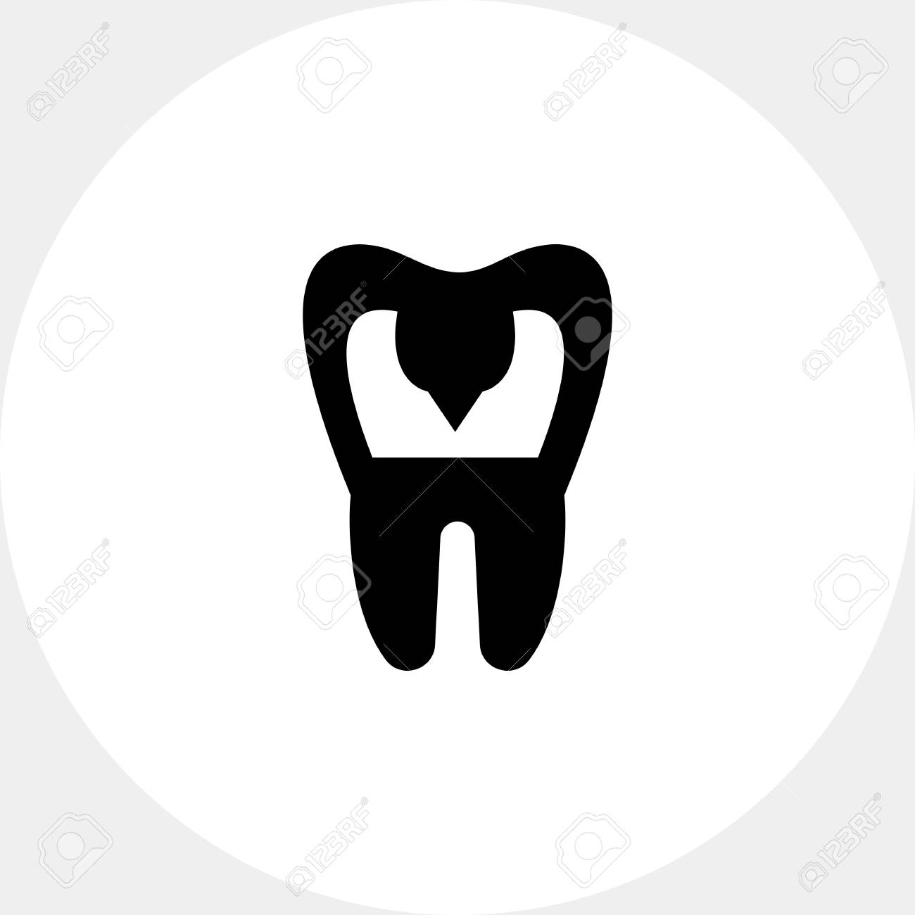 Zahn Mit Karies. Mund, Zahnmedizin, Zahnschmerzen. Zähne-Konzept ...