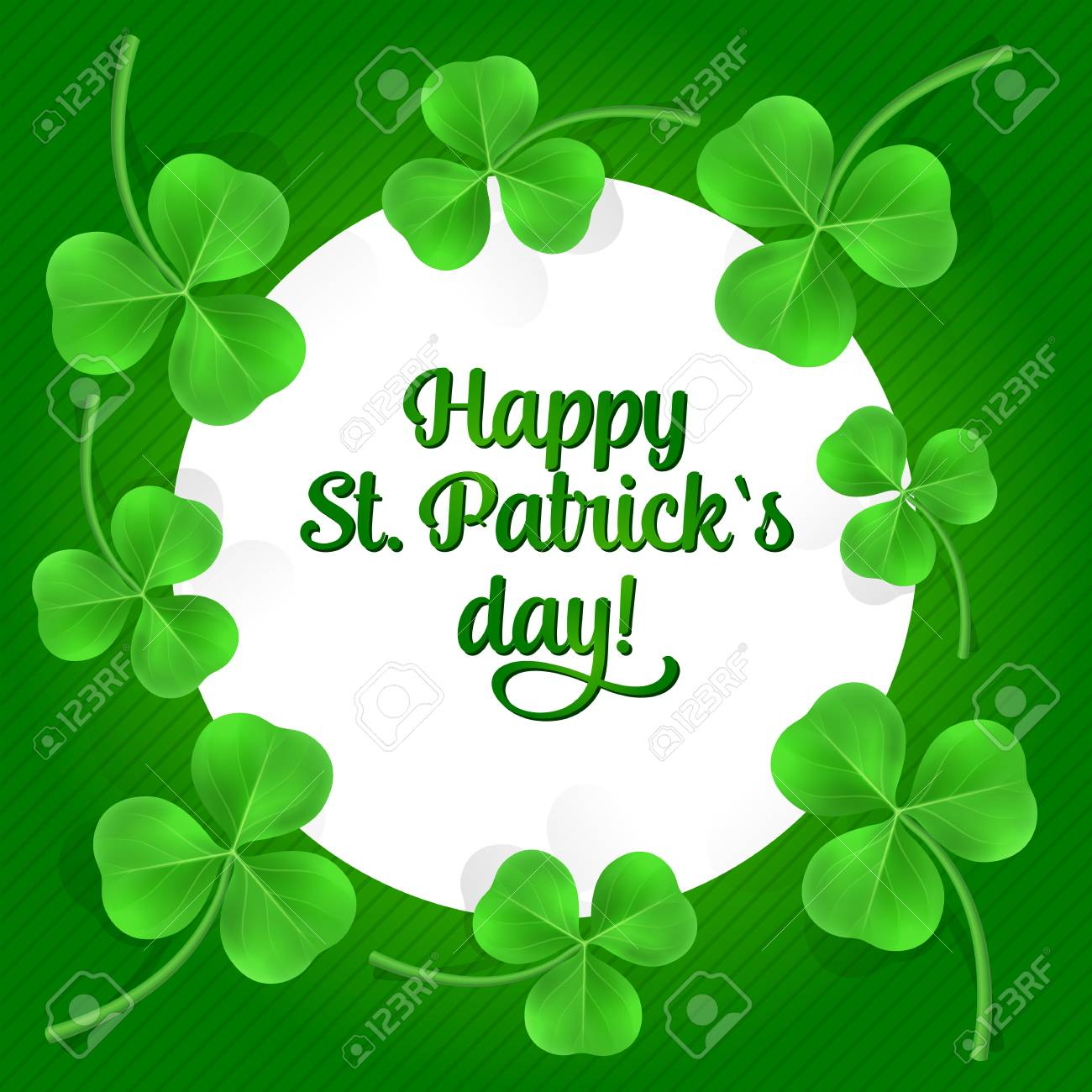 Happy St Patricks Day Lettering St Patricks Day Greeting Card